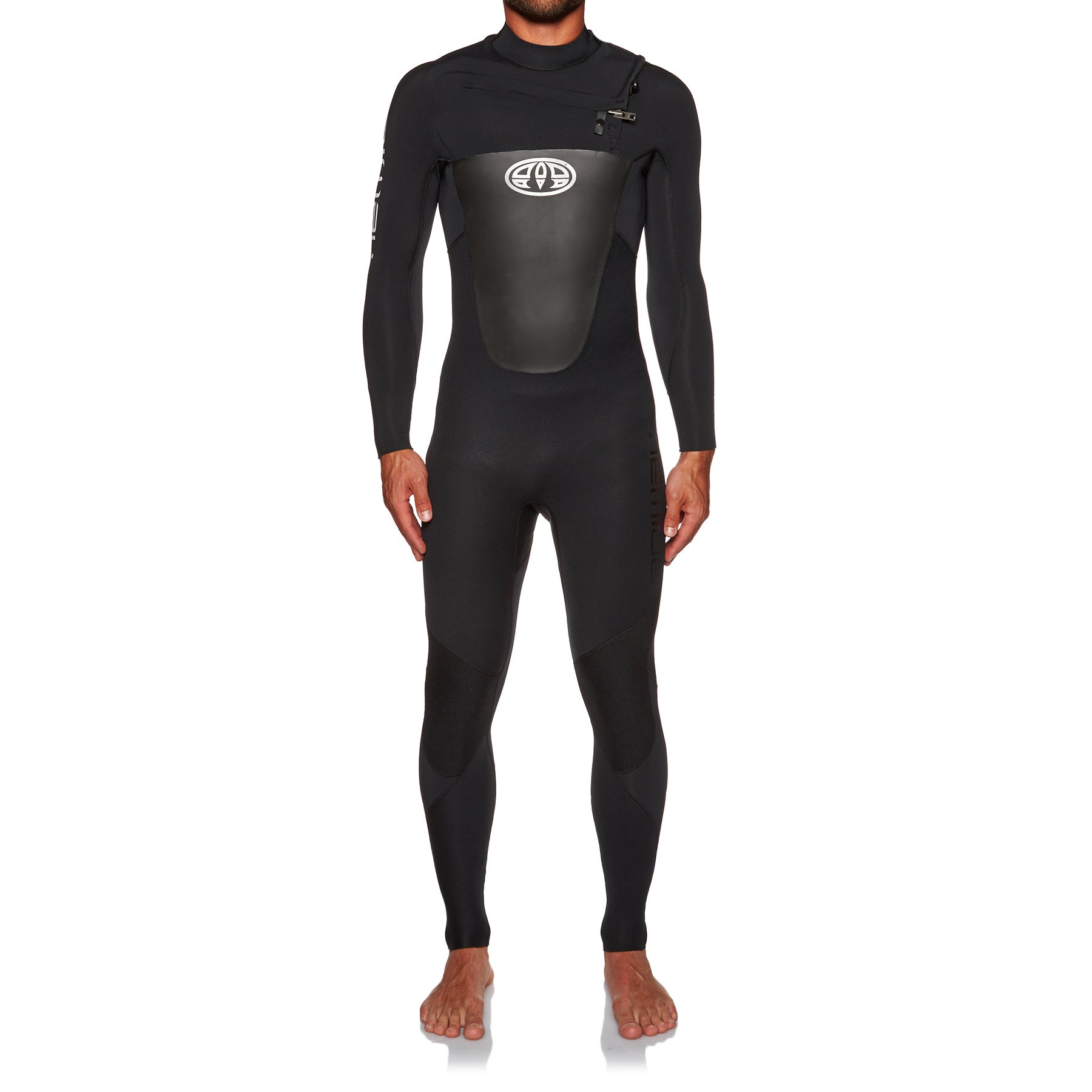 Animal Lava Front Zip 2017 4/3mm Wetsuit - Black