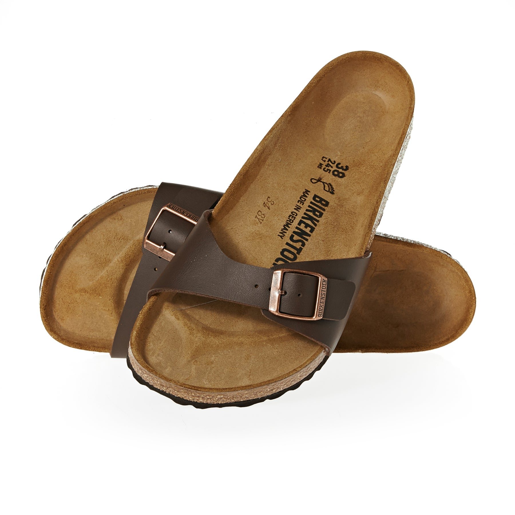 Birkenstock Madrid Womens Sandals - Dark Brown