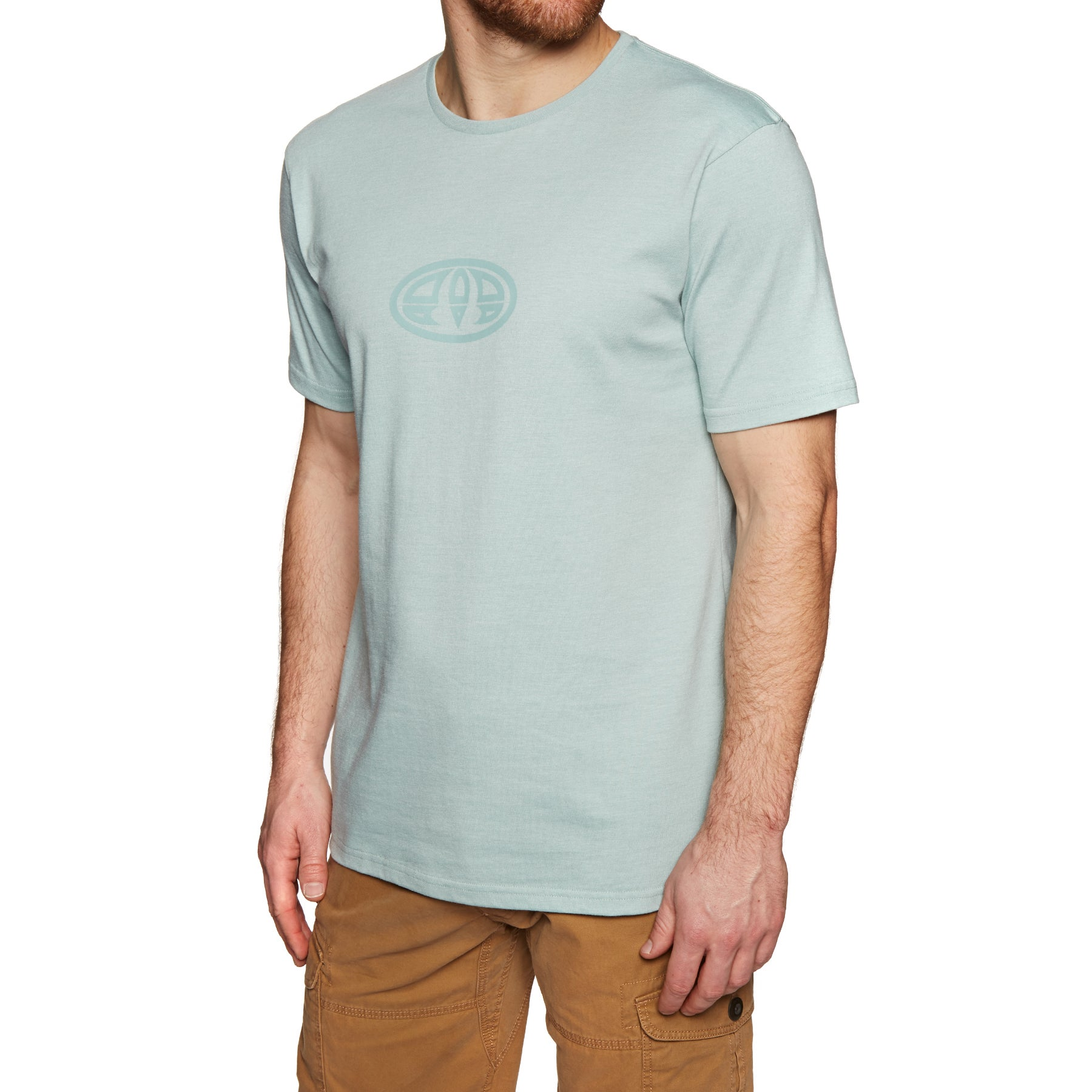 Animal Lister Short Sleeve T-Shirt - Blue Mist Marl