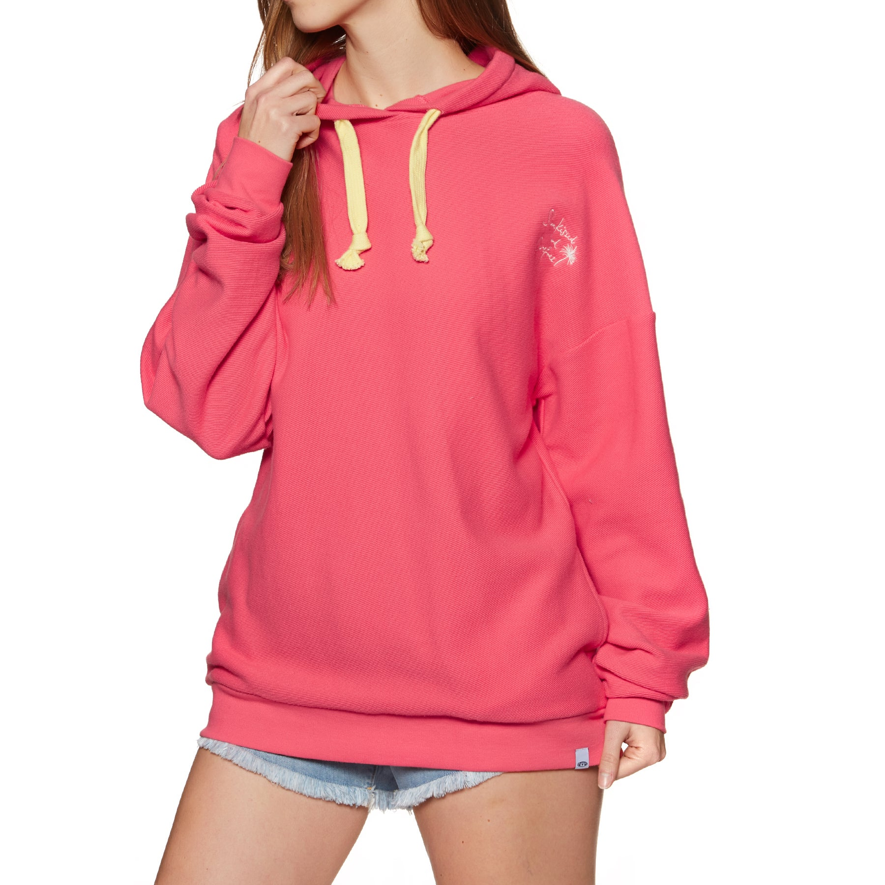 Animal Athena Womens Pullover Hoody - Calypso Coral Red