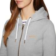 Sweat à Capuche avec Fermeture Éclair Femme Superdry Orange Label Elite