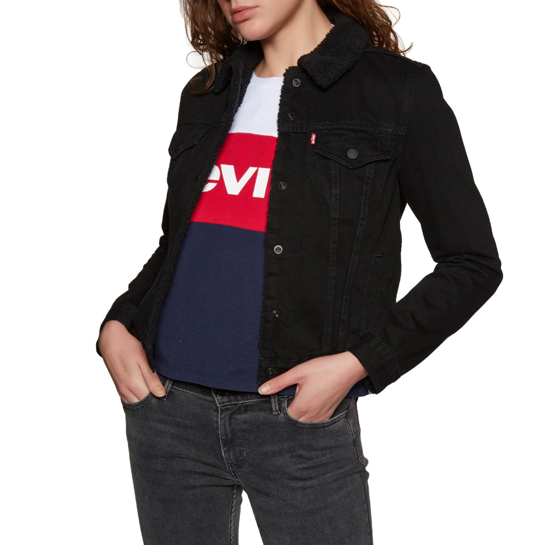9eca194605ef Levis Original Sherpa Trucker Womens Jacket available from Surfdome