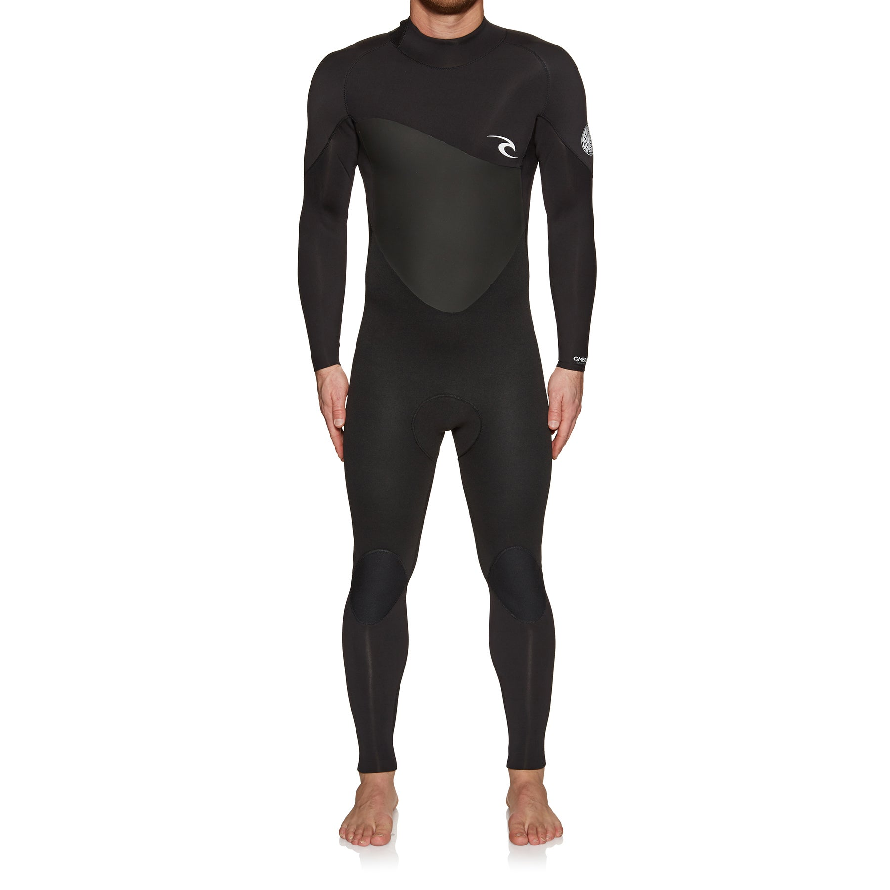 Rip Curl Omega 3/2mm 2019 Back Zip Wetsuit - Black
