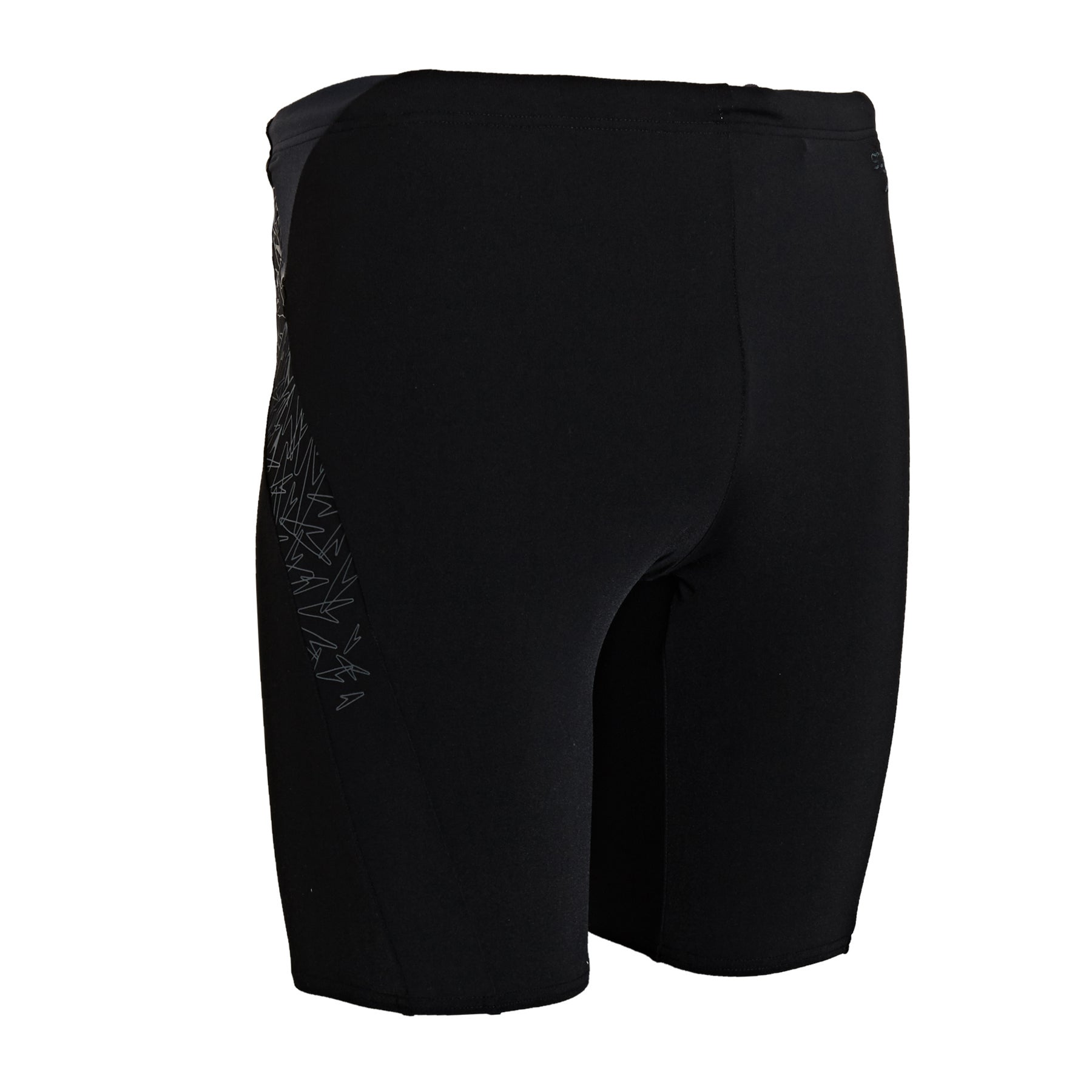 Speedo Boom Splice Jammer Swim Shorts - Black Oxid Grey