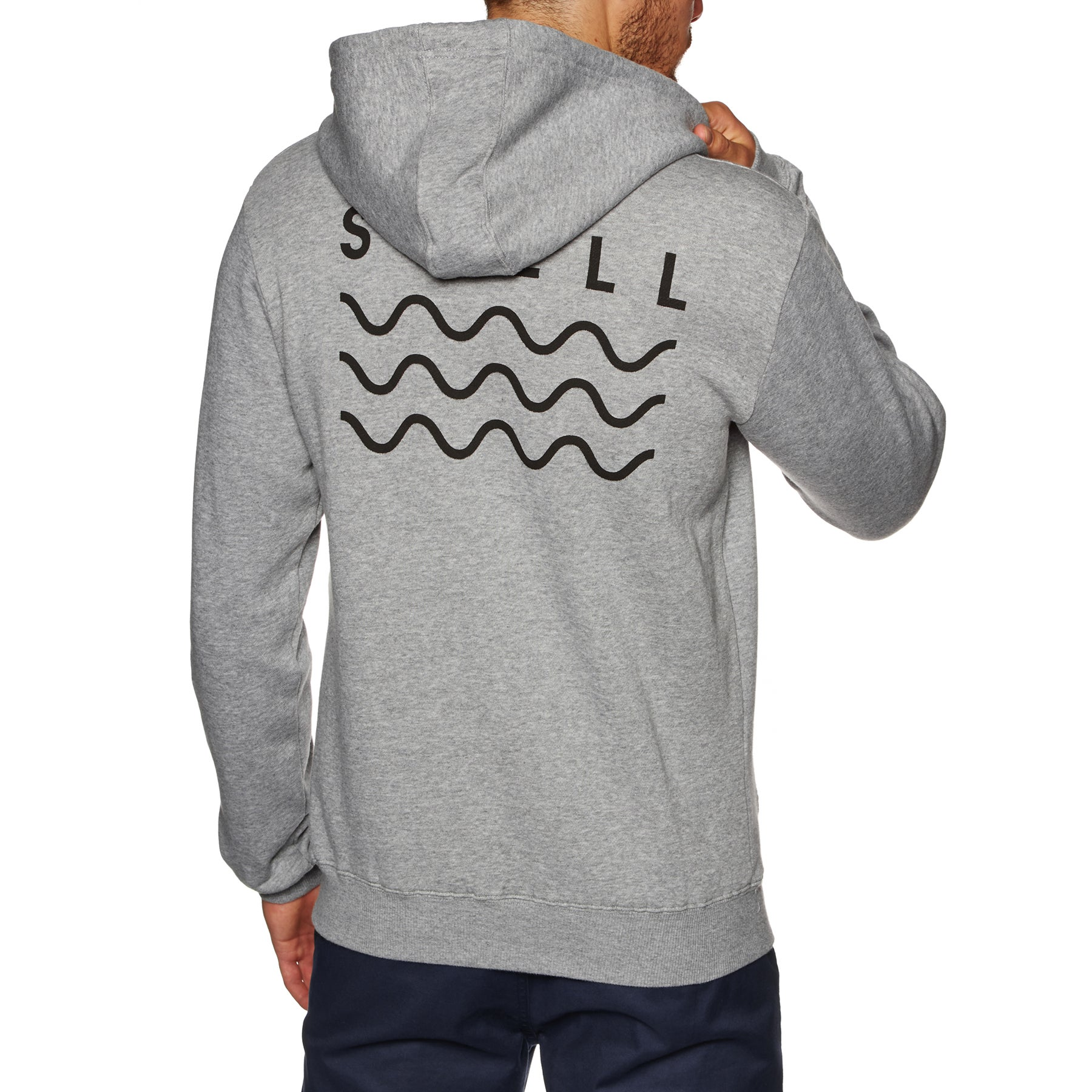 SWELL Basic Pullover Hoody - Grey Marle
