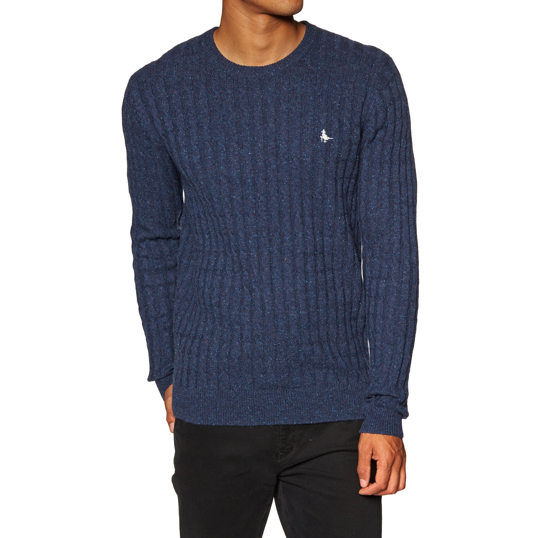 Jack Wills Marlow Cable Crew Sweater - Navy