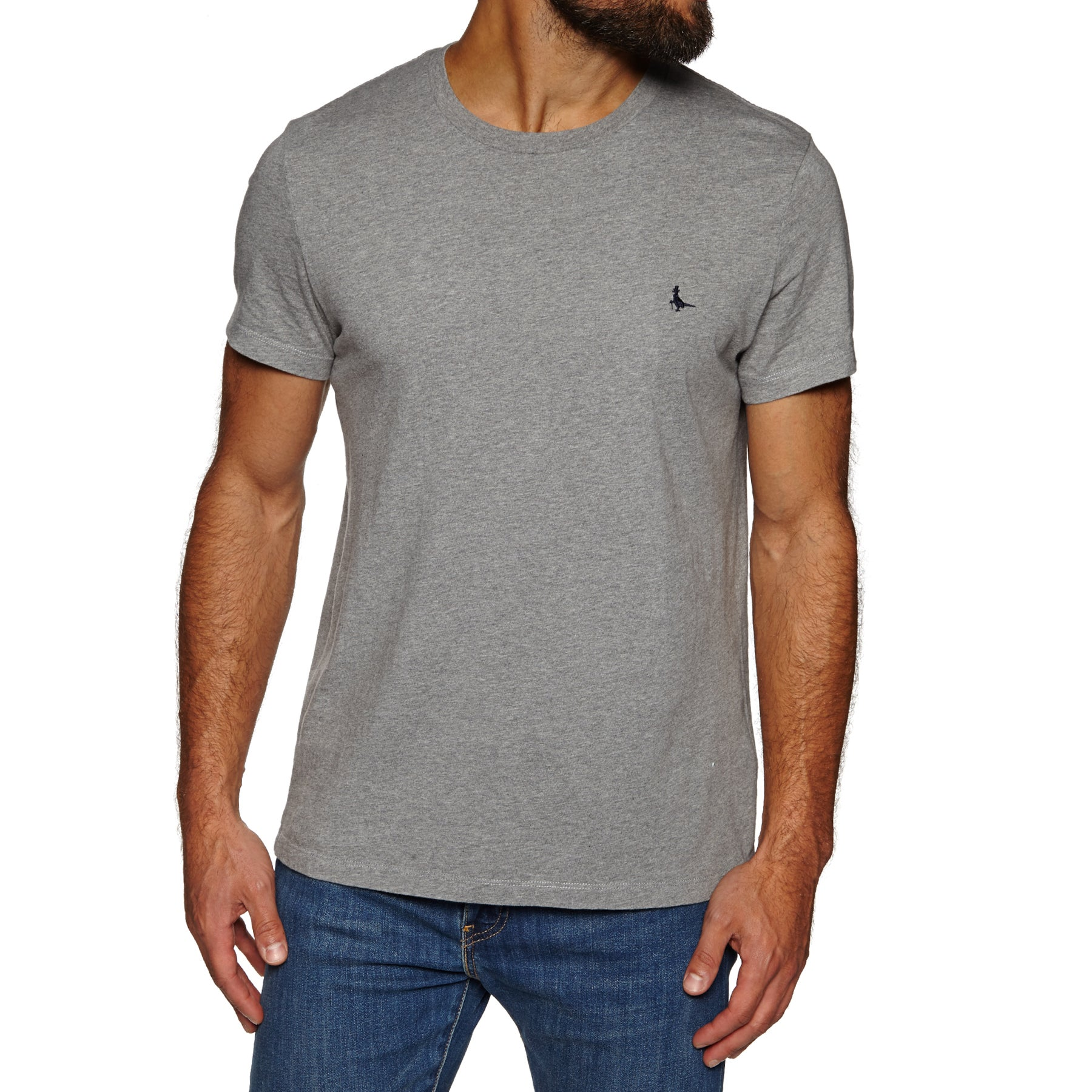 Jack Wills Sandleford Basic Short Sleeve T-Shirt - Grey Marl