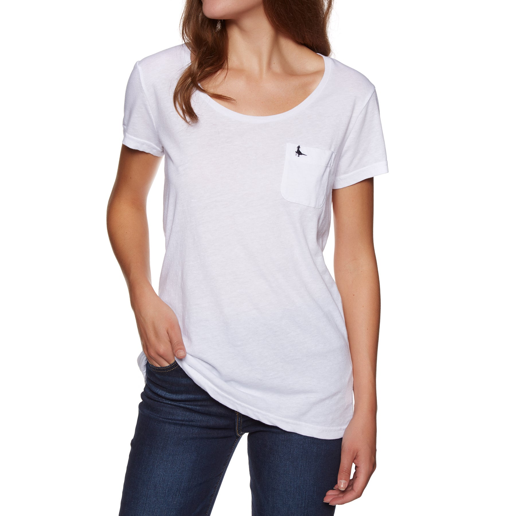 Jack Wills Fullford Classic Pocket Short Sleeve T-Shirt - White