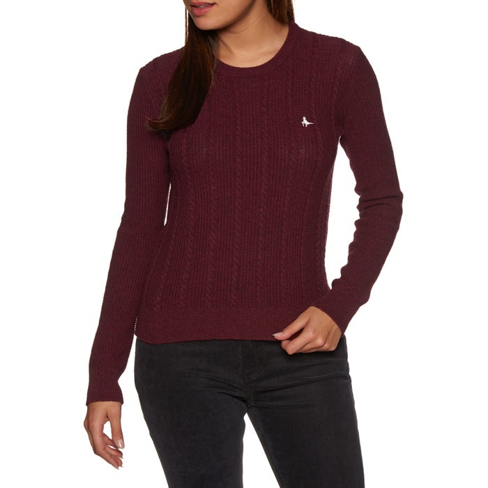 Jack Wills Tinsbury Cable Crew Womens Sweater