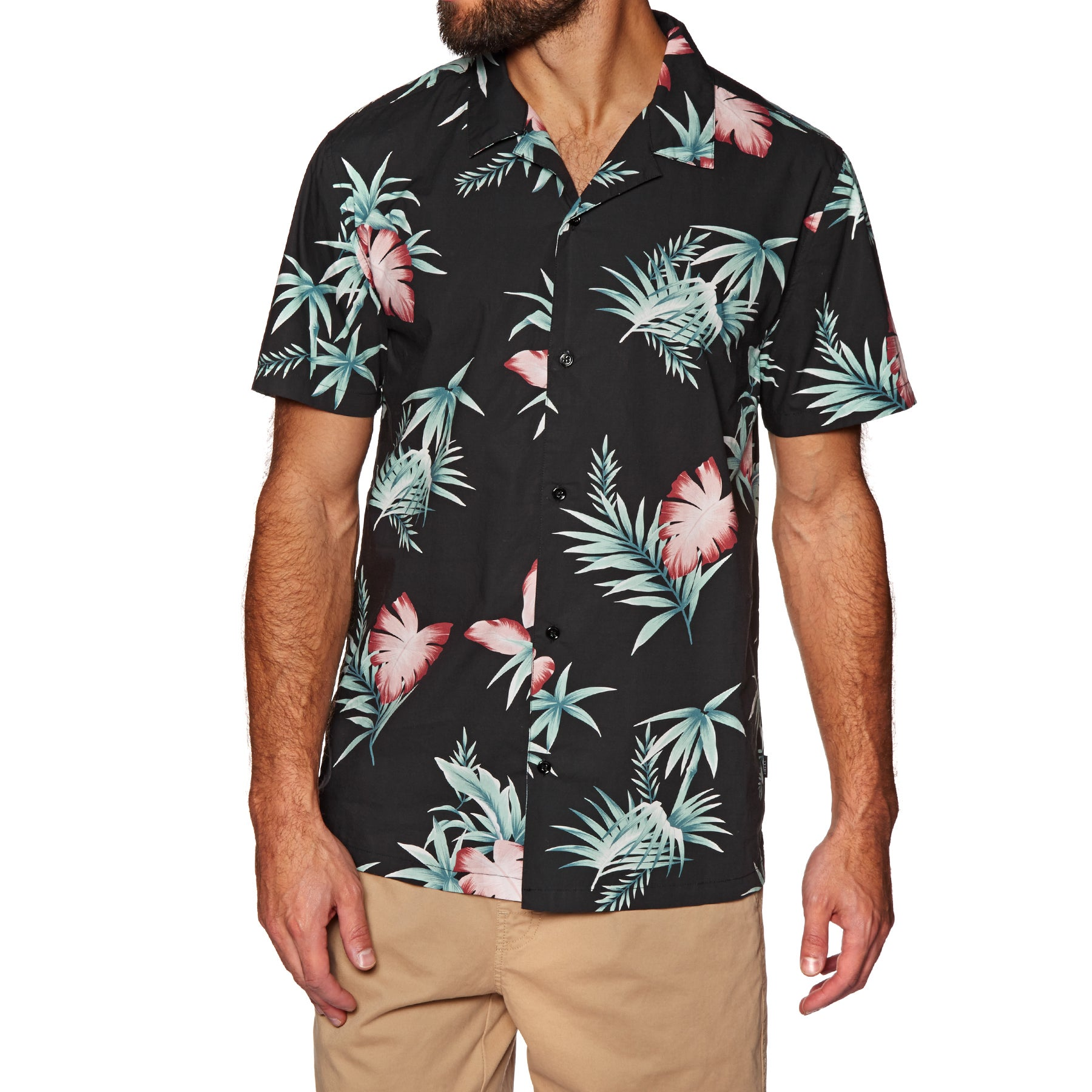SWELL Aloha Short Sleeve Shirt - Black