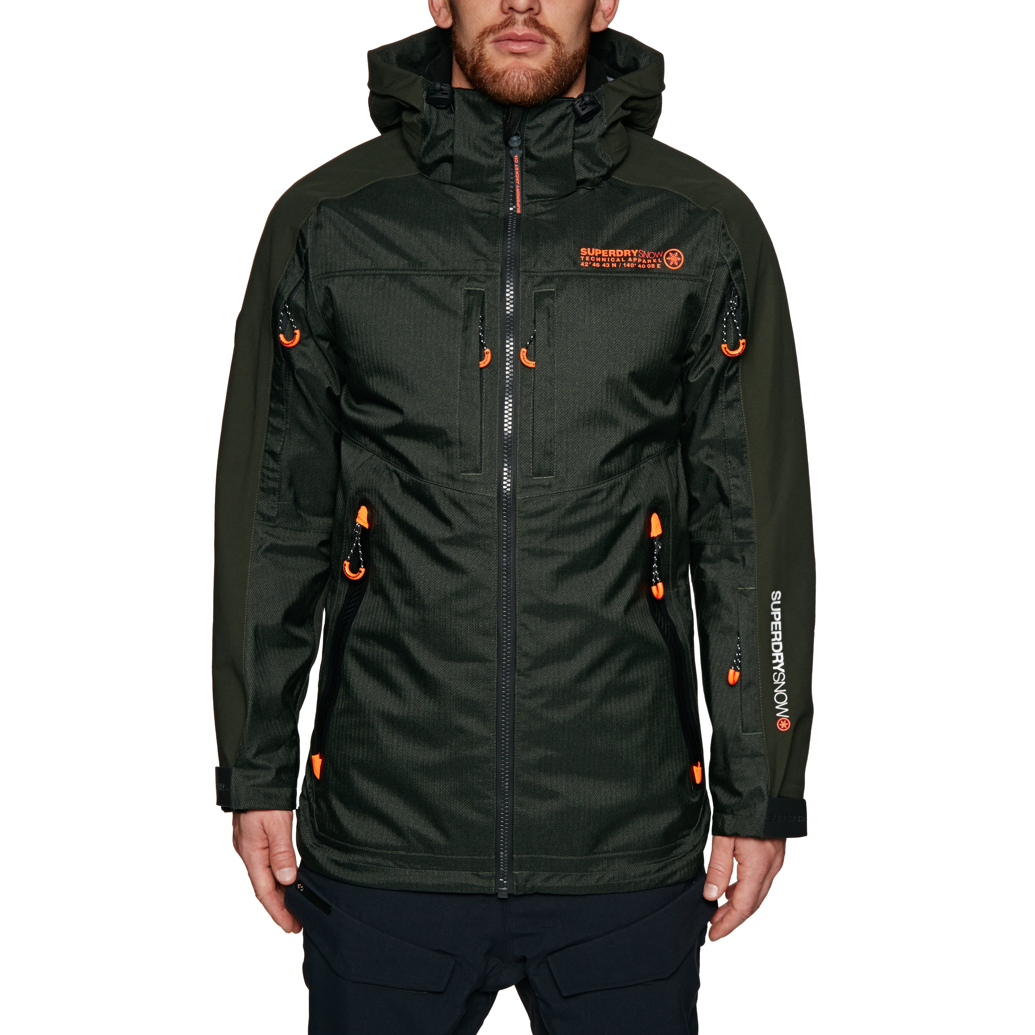 Superdry Piste Rescue Multi Snow Jacket - Army Green