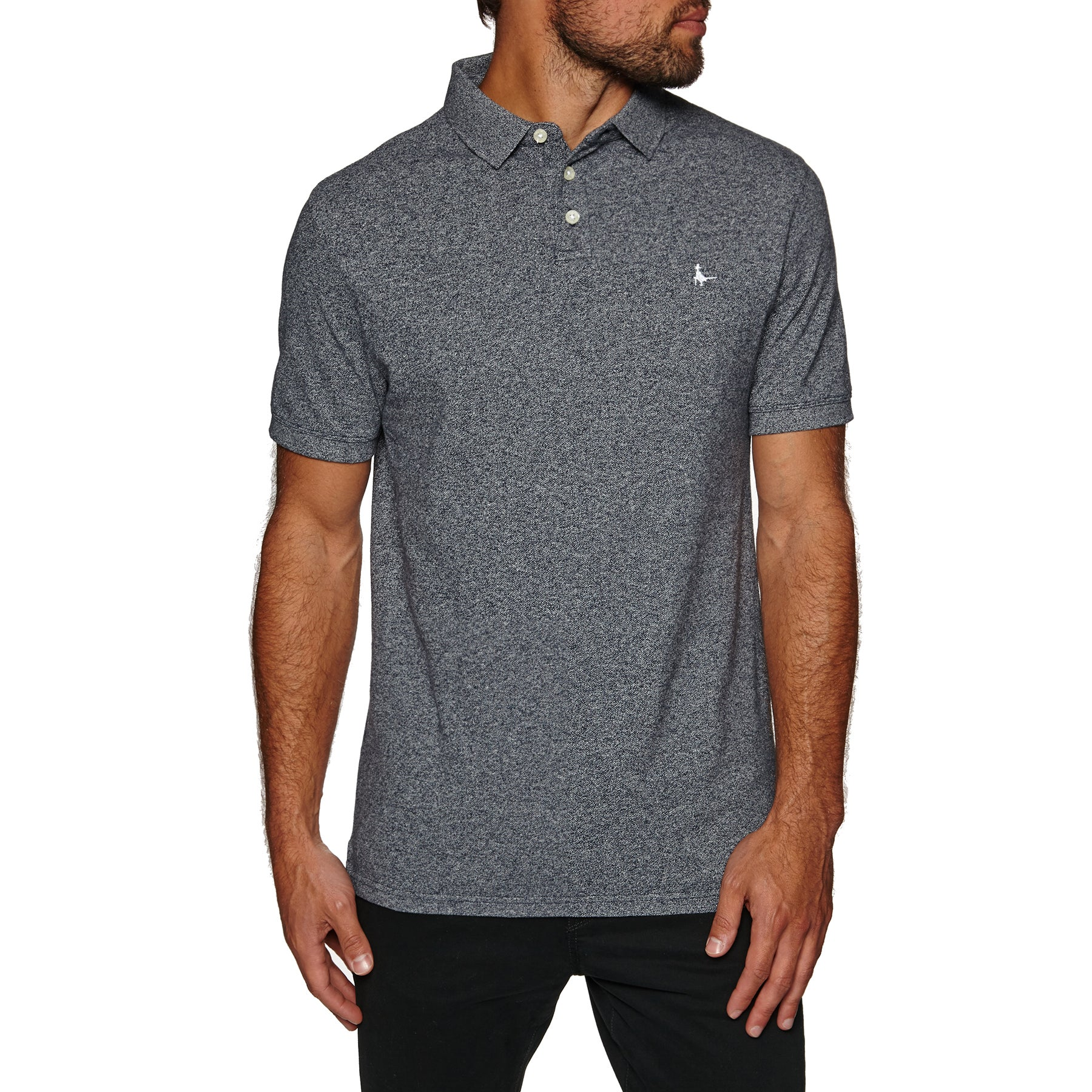 Jack Wills Langold Jaspe Pique Polo Shirt - Navy