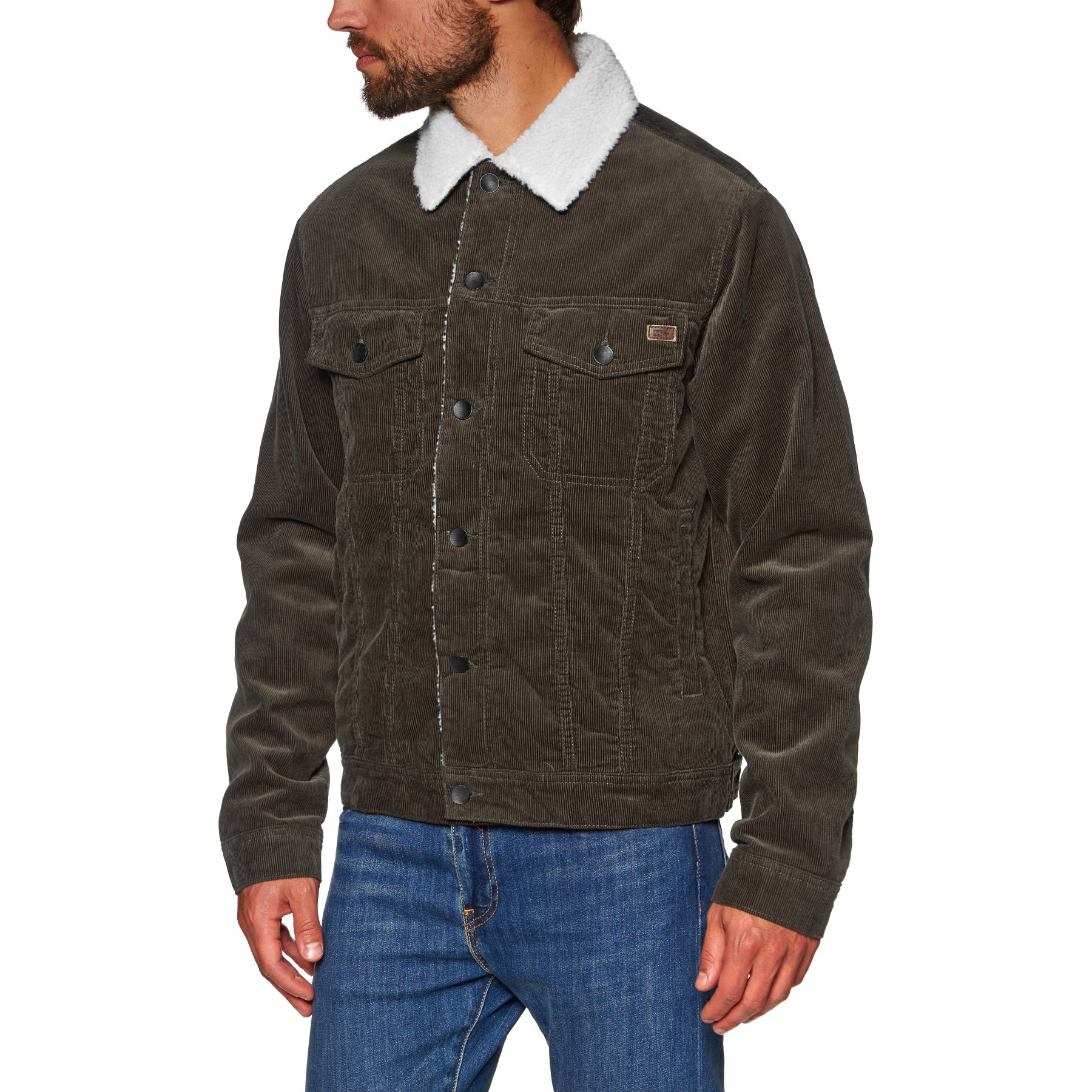 Billabong Barlow Trucker Jacket - Coffee