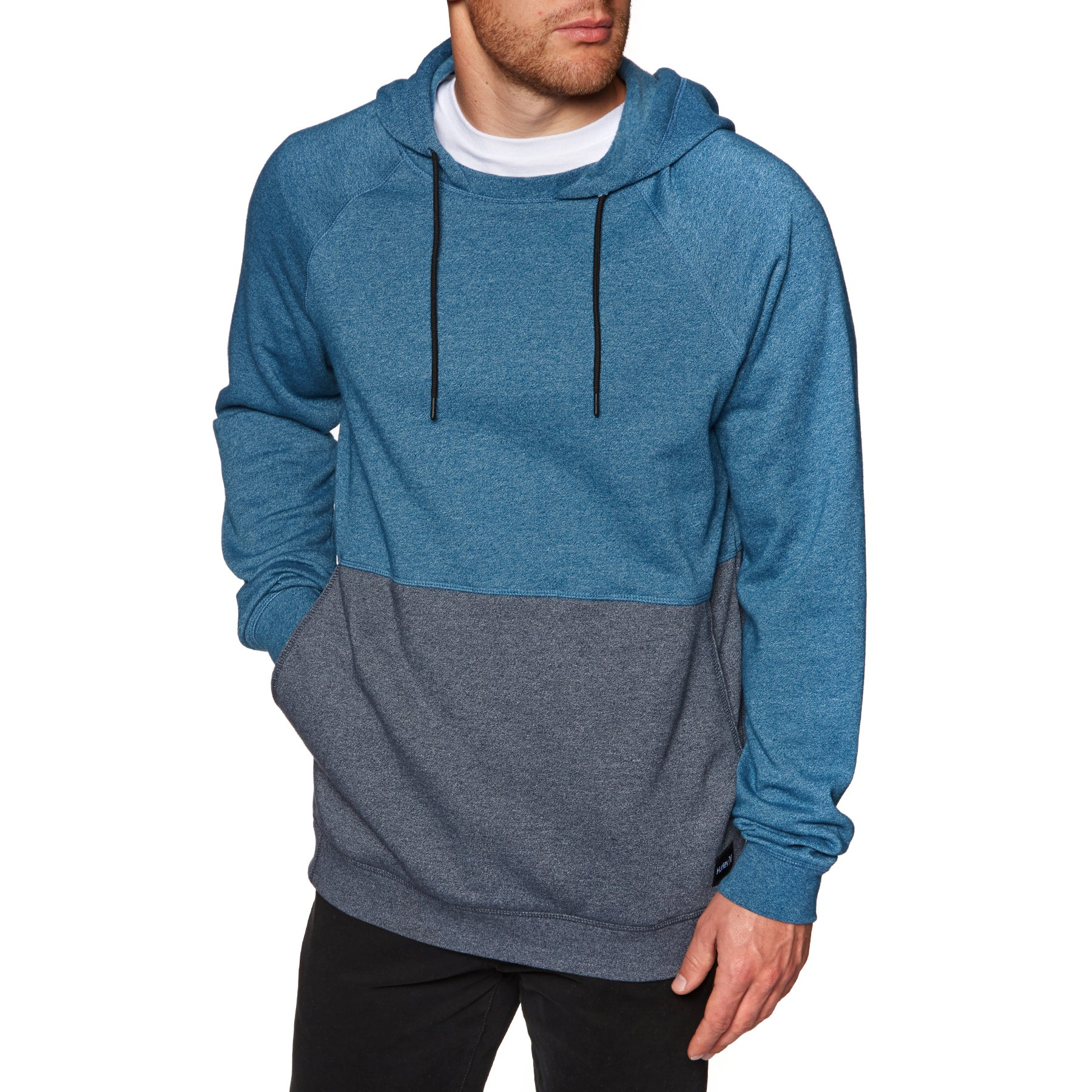 Hurley Crone Blocked Pullover Hoody - Blue Force Htr