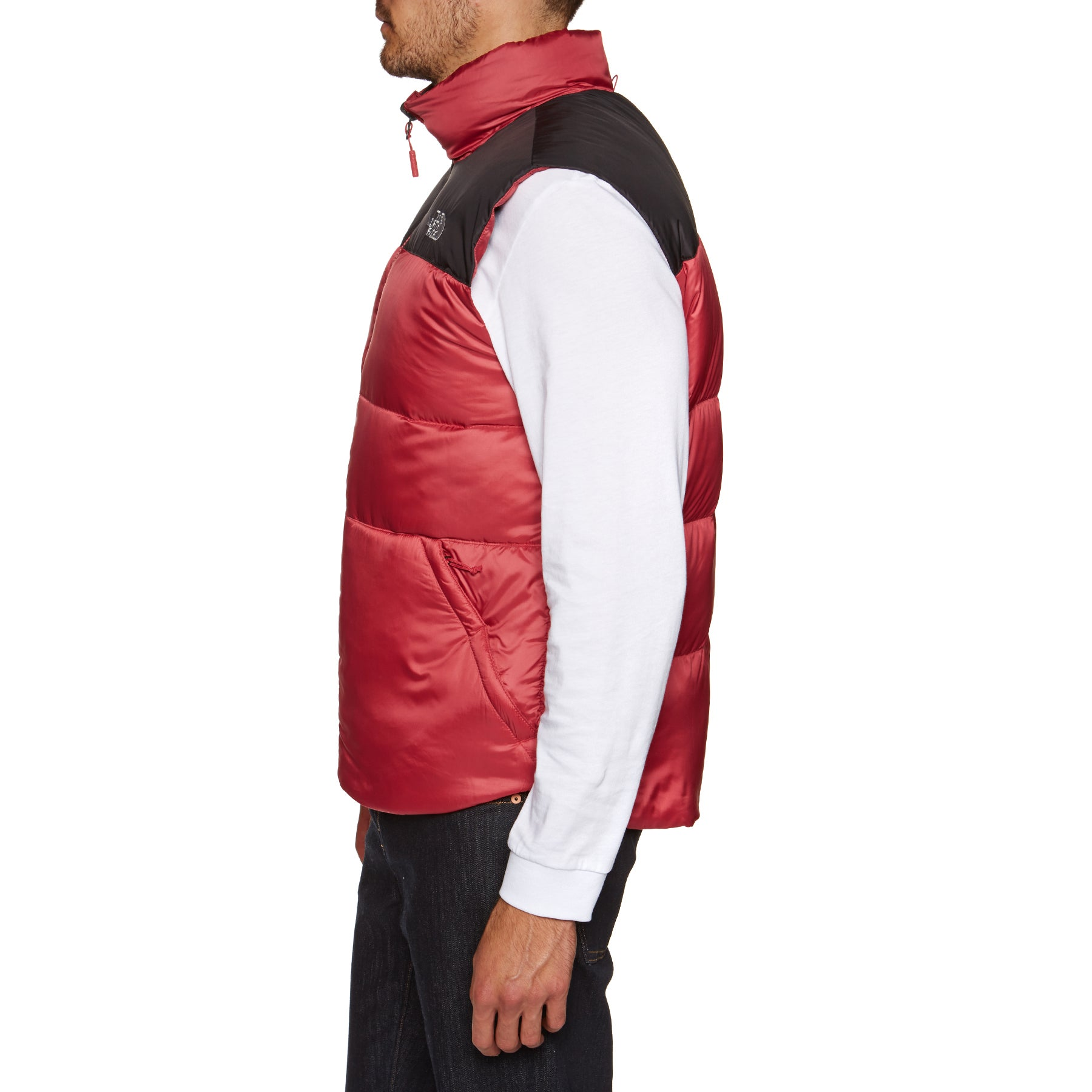 The North Face Nuptse Iii Jacket Body Warmer Rage Red Tnf Black All Sizes