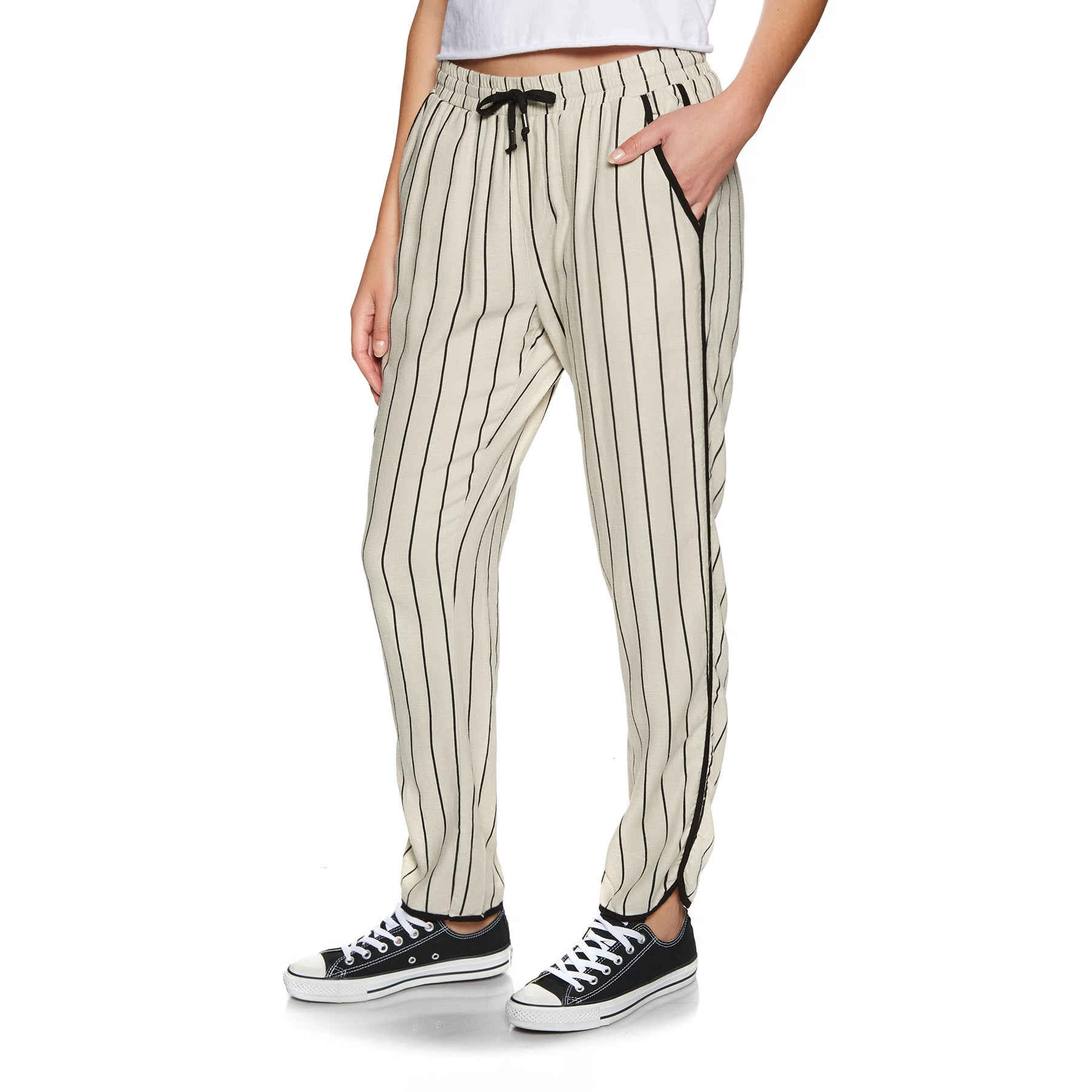 SWELL Bay Slim Fitted Womens Trousers - Stripe