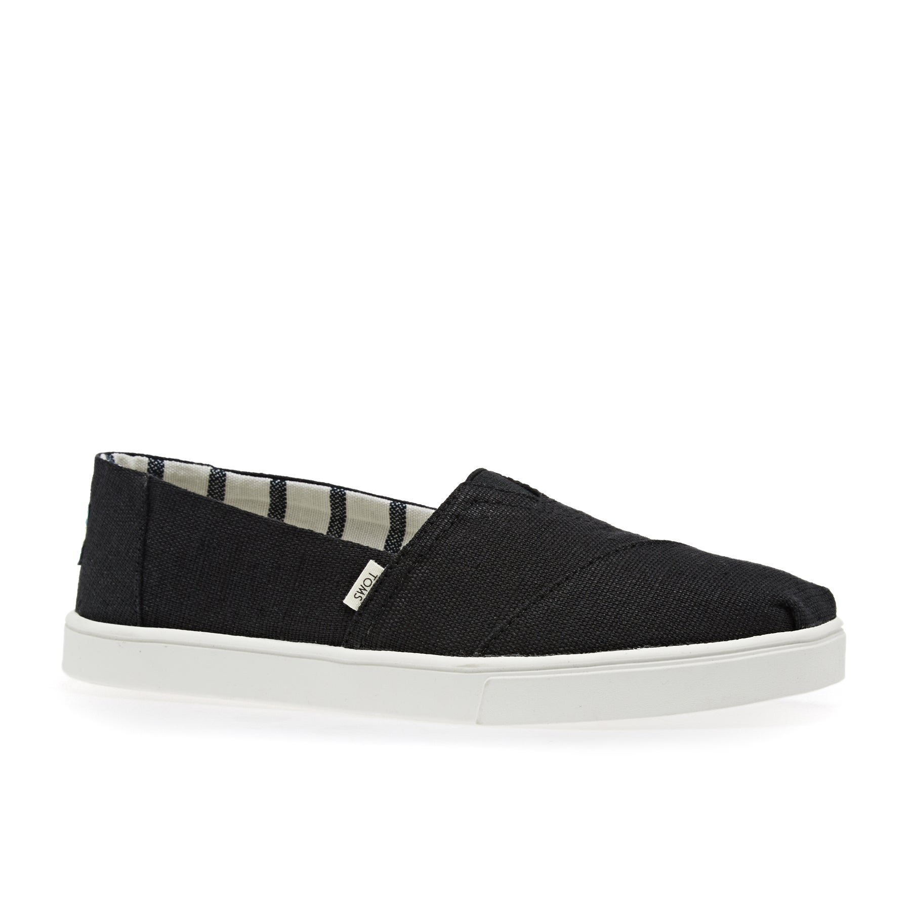 Toms Canvas Cupsole Womens Slip On Shoes - Black