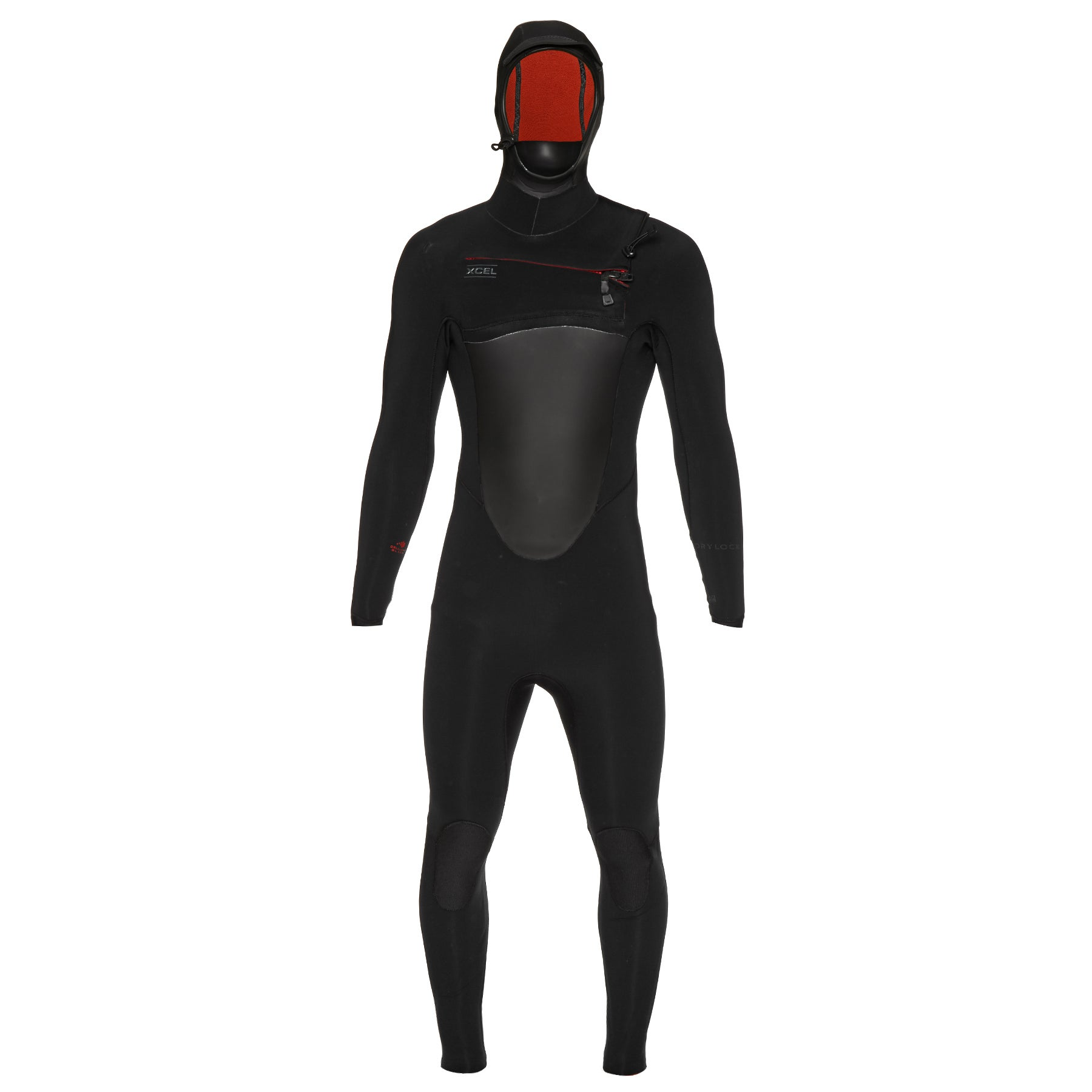Xcel Drylock 4/3mm 2019 Chest Zip Hooded Wetsuit - Black
