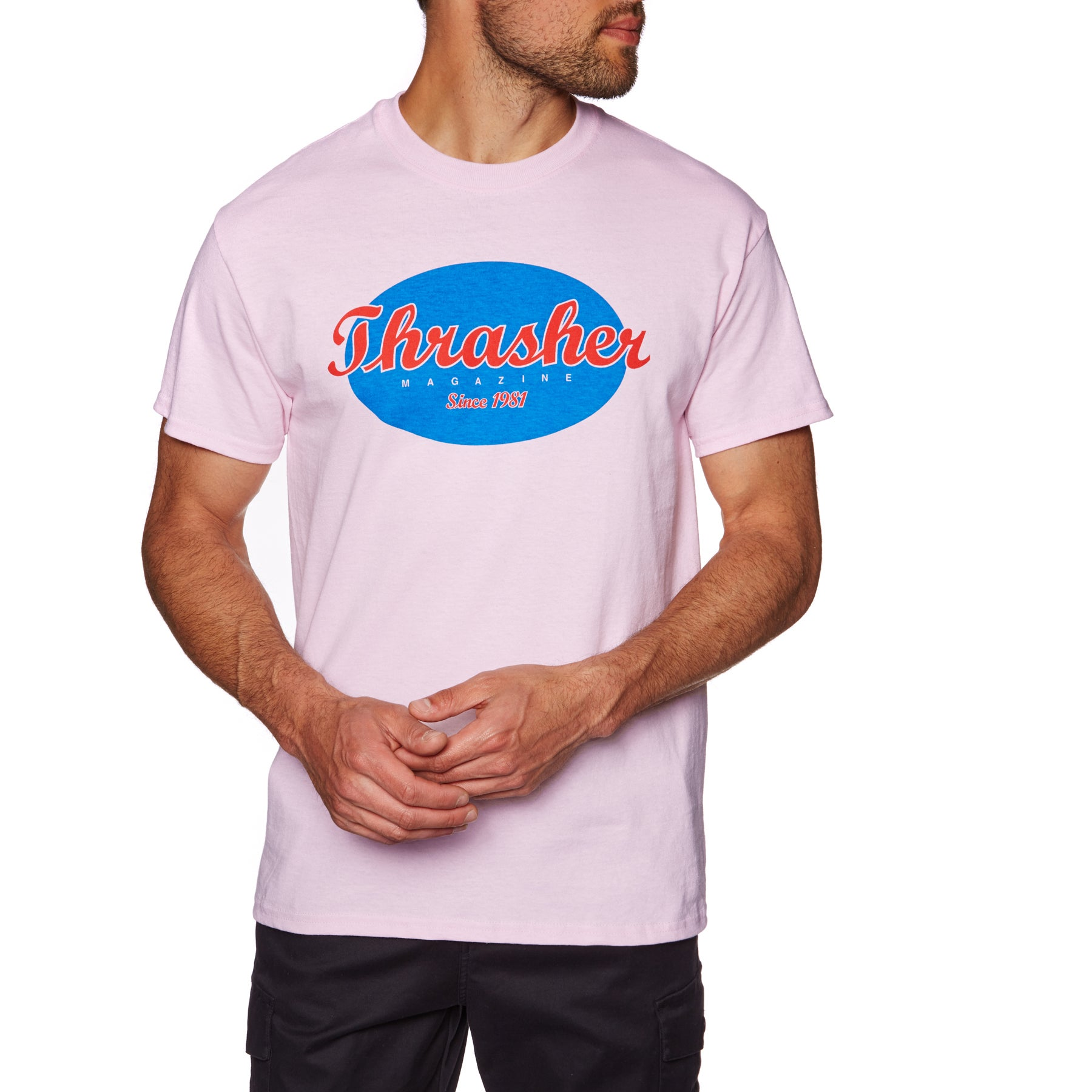 Thrasher Oval Short Sleeve T-Shirt - Pink