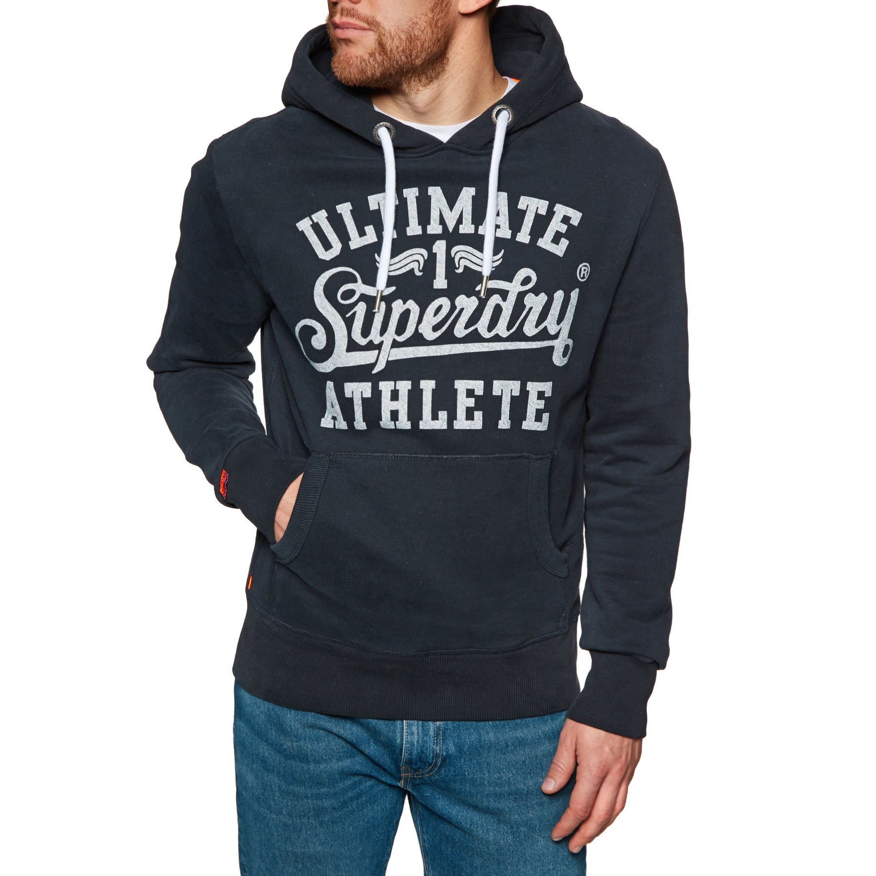 Superdry Heritage Classic Pullover Hoody - Eclipse Navy