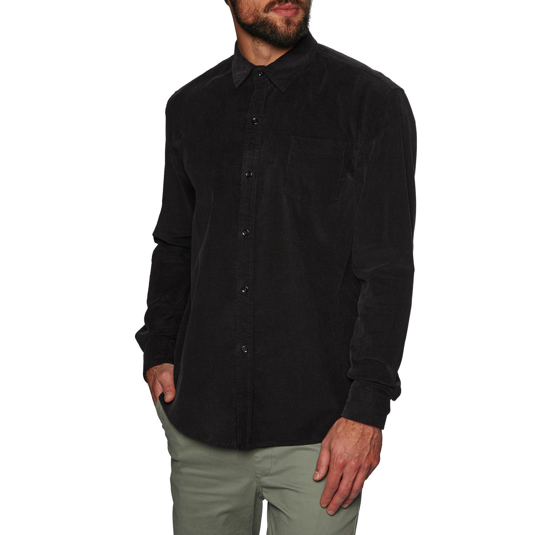 SWELL Line Up Long Sleeved Shirt - Washed Black