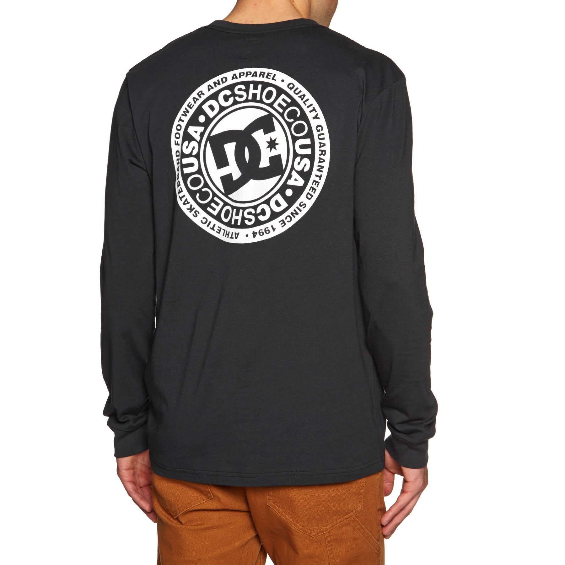 DC Circle Star Long Sleeve T-Shirt - Black