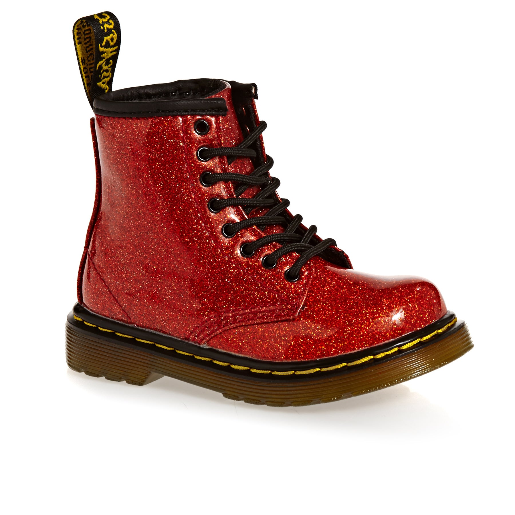 Bottes Enfant Dr Martens 1460 Glitter T - Red Multi Coated Glitter