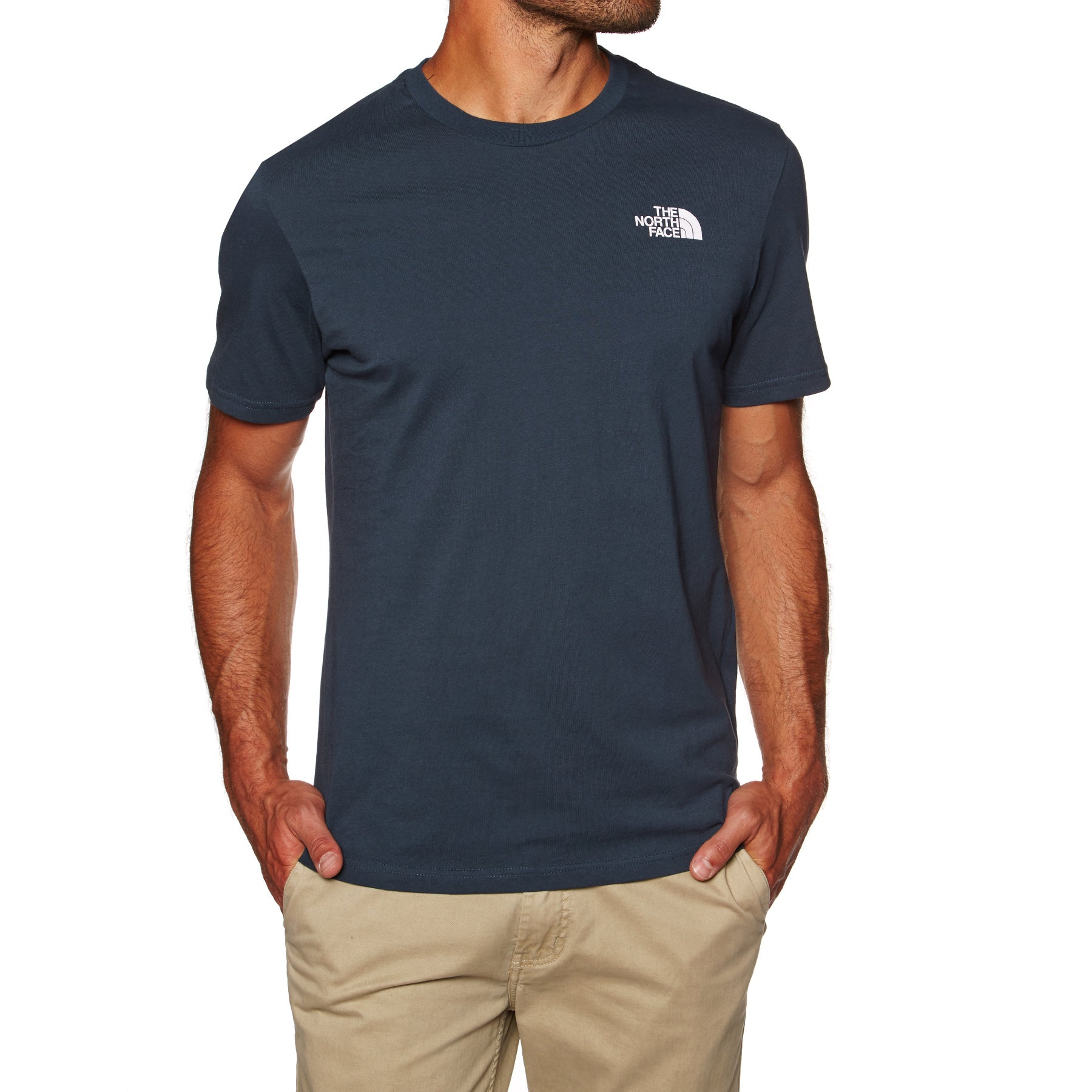 North Face Simple Dome Short Sleeve T-Shirt - Urban Navy TNF White