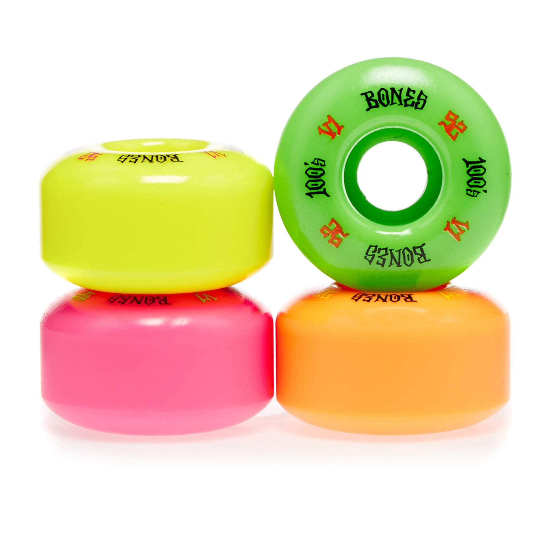 Bones 100's Party Pack #4 V1 52 Mm Skateboard Wheel - Multicolour