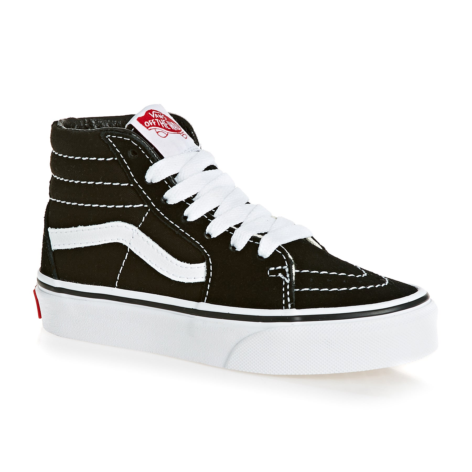 Vans SK8 Hi Kids Shoes - Black True White
