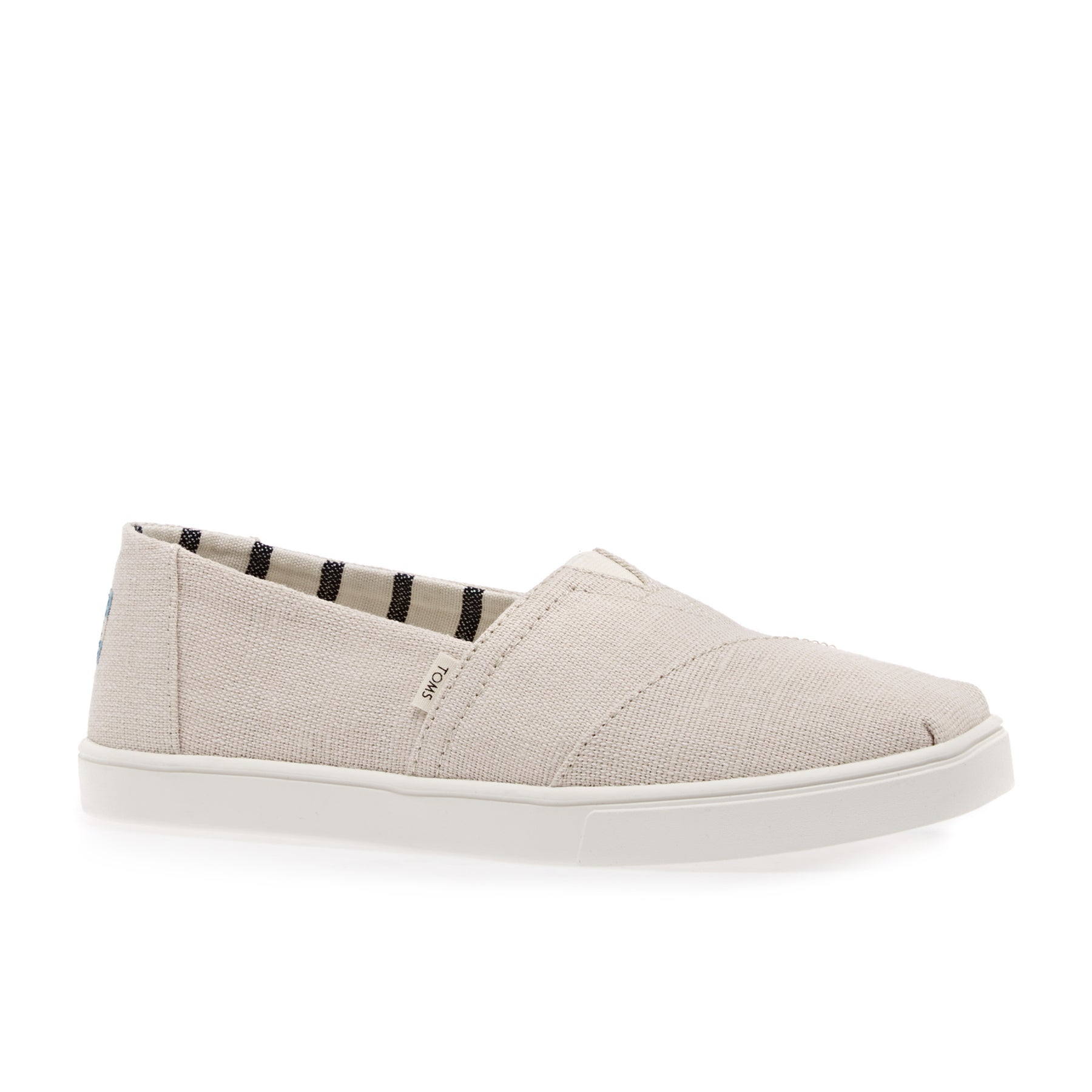 Toms Canvas Cupsole Womens Slip On Shoes - Natural