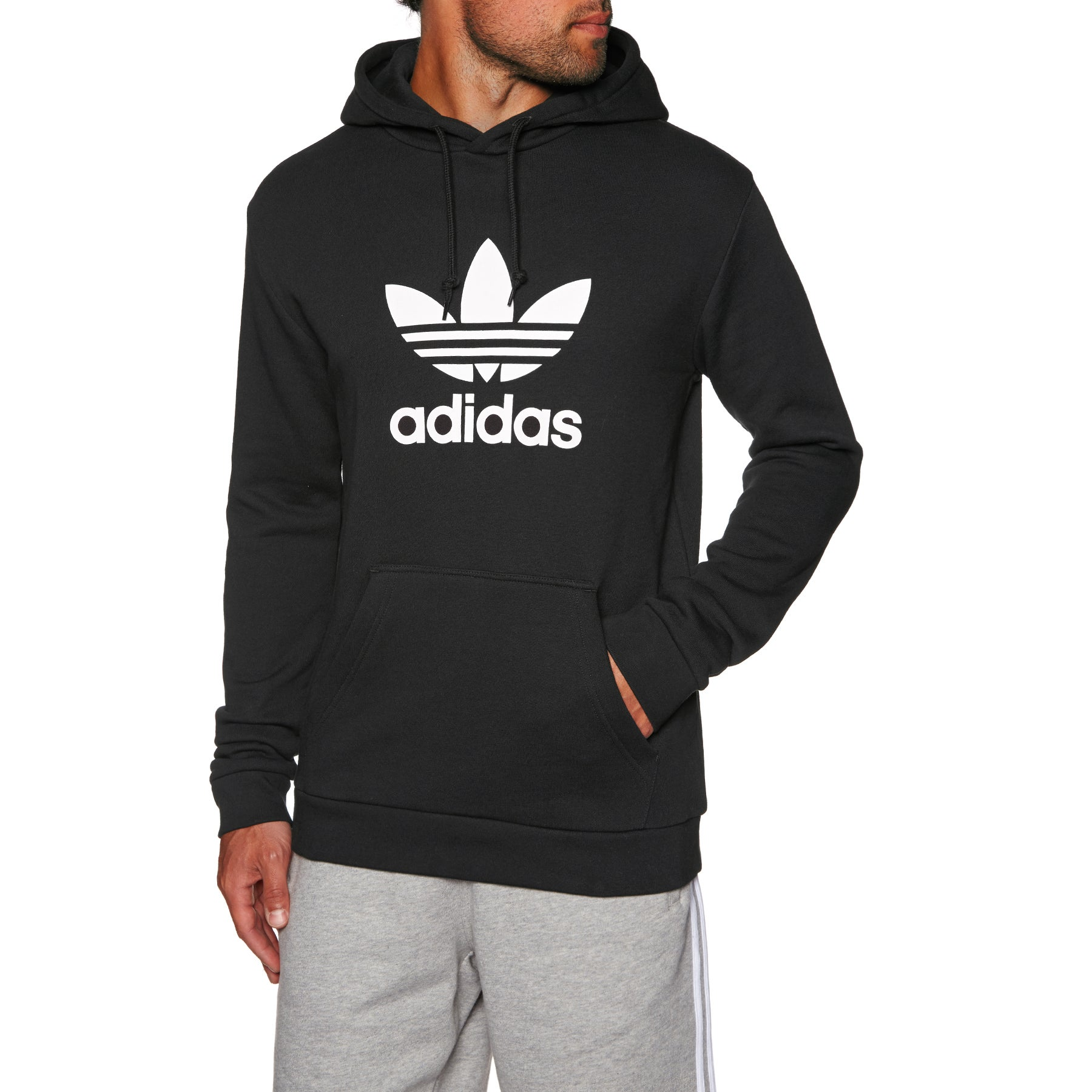 cda0e2719e4d Adidas Originals Trefoil Pullover Hoody available from Surfdome