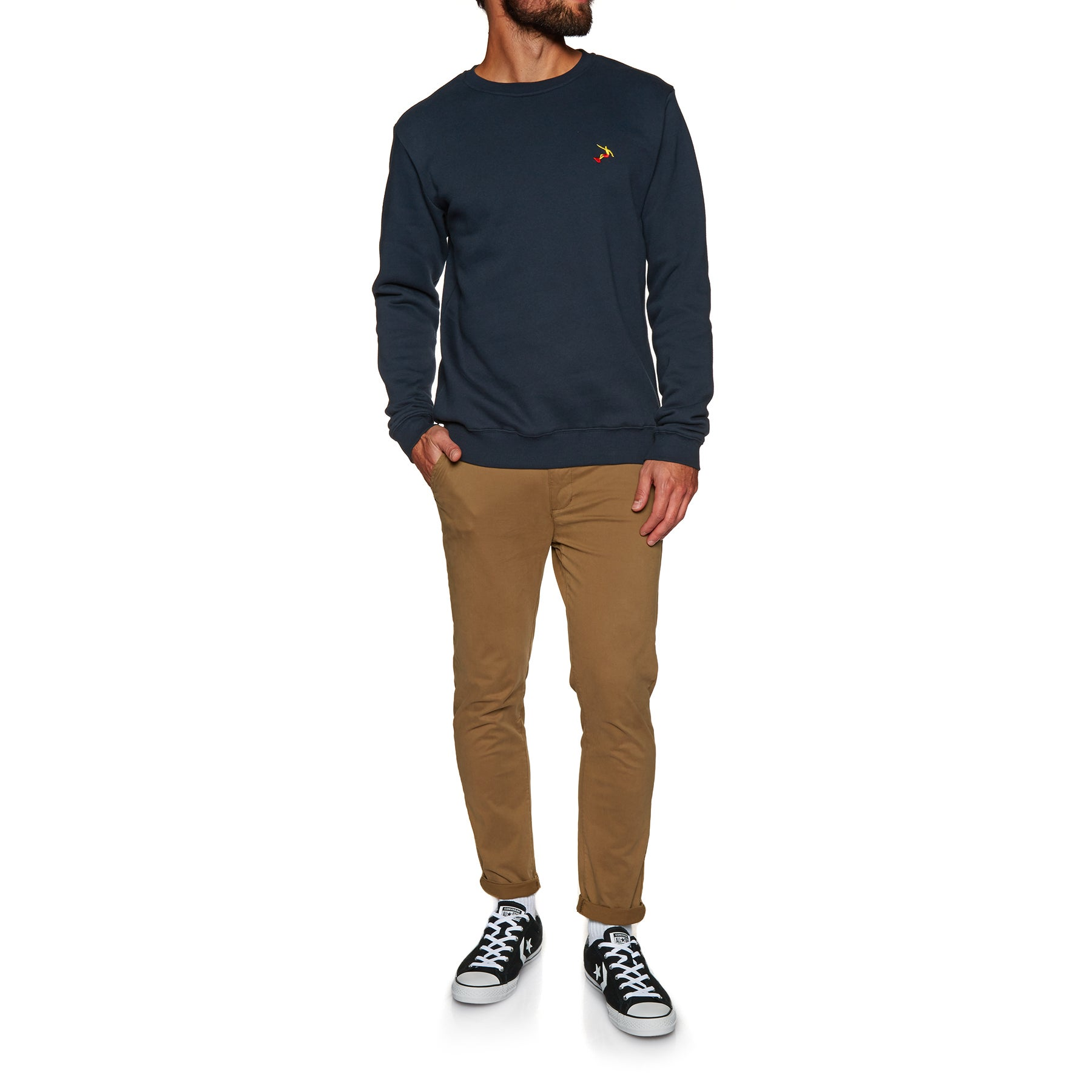 SWELL Layback Crew Sweater - Navy