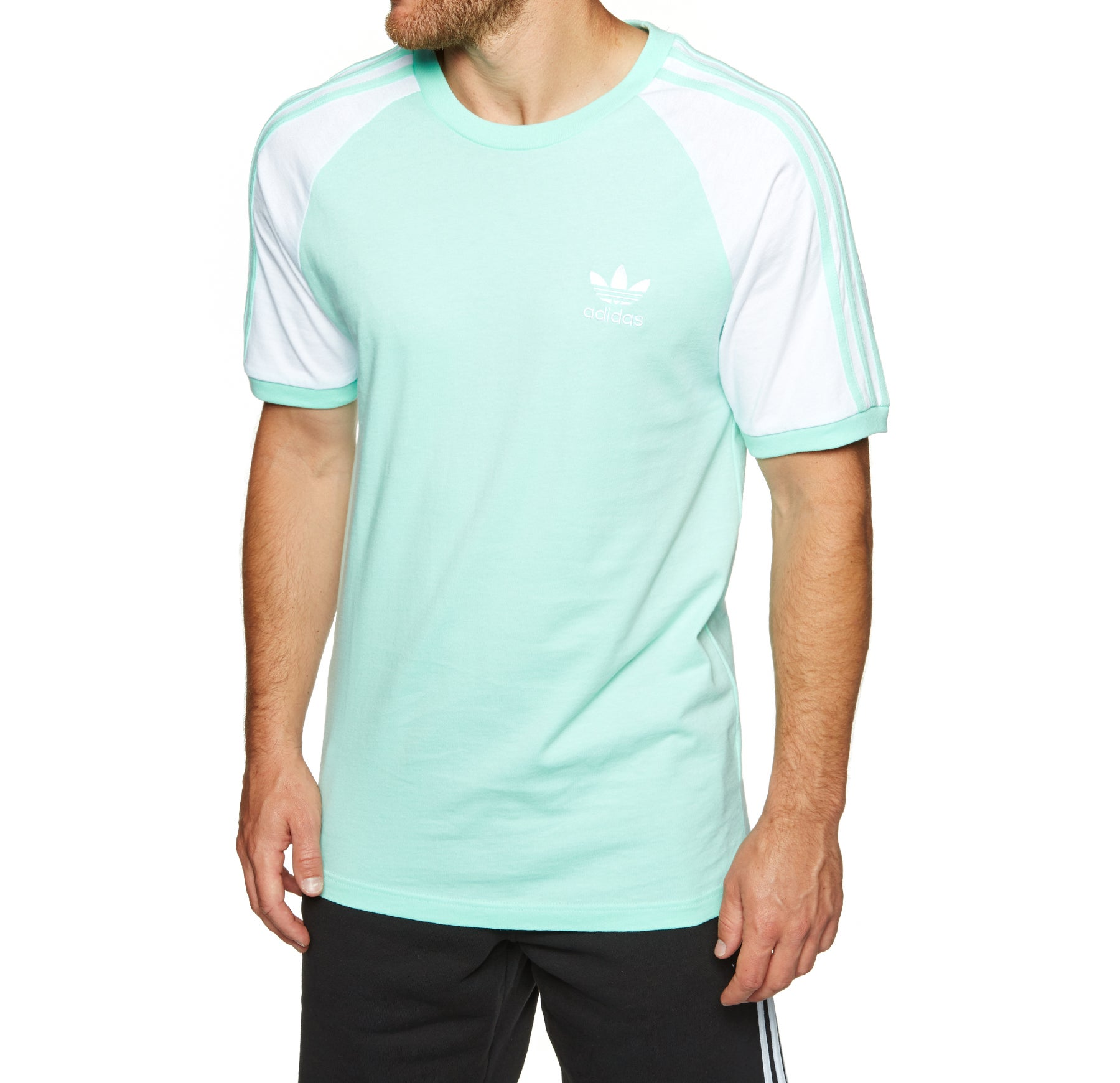 Adidas Originals 3 Stripes Short Sleeve T-Shirt - Clear Mint
