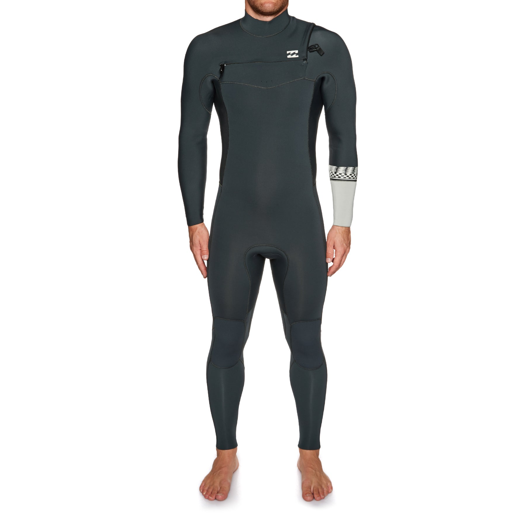 Billabong Furnace Revolution 4/3mm 2019 Chest Zip Wetsuit - Graphite