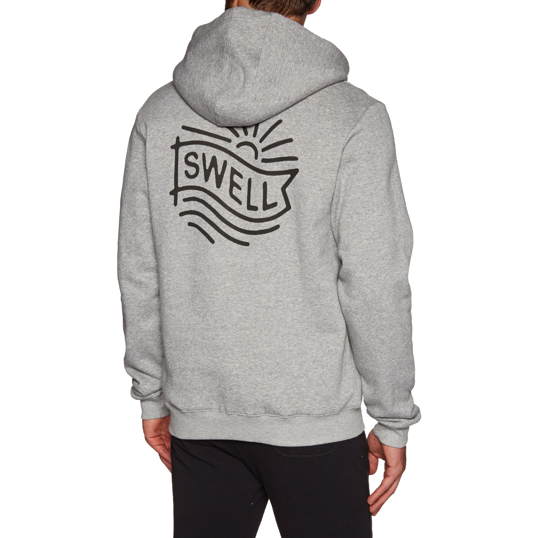 SWELL Banner Pullover Hoody - Grey Marl