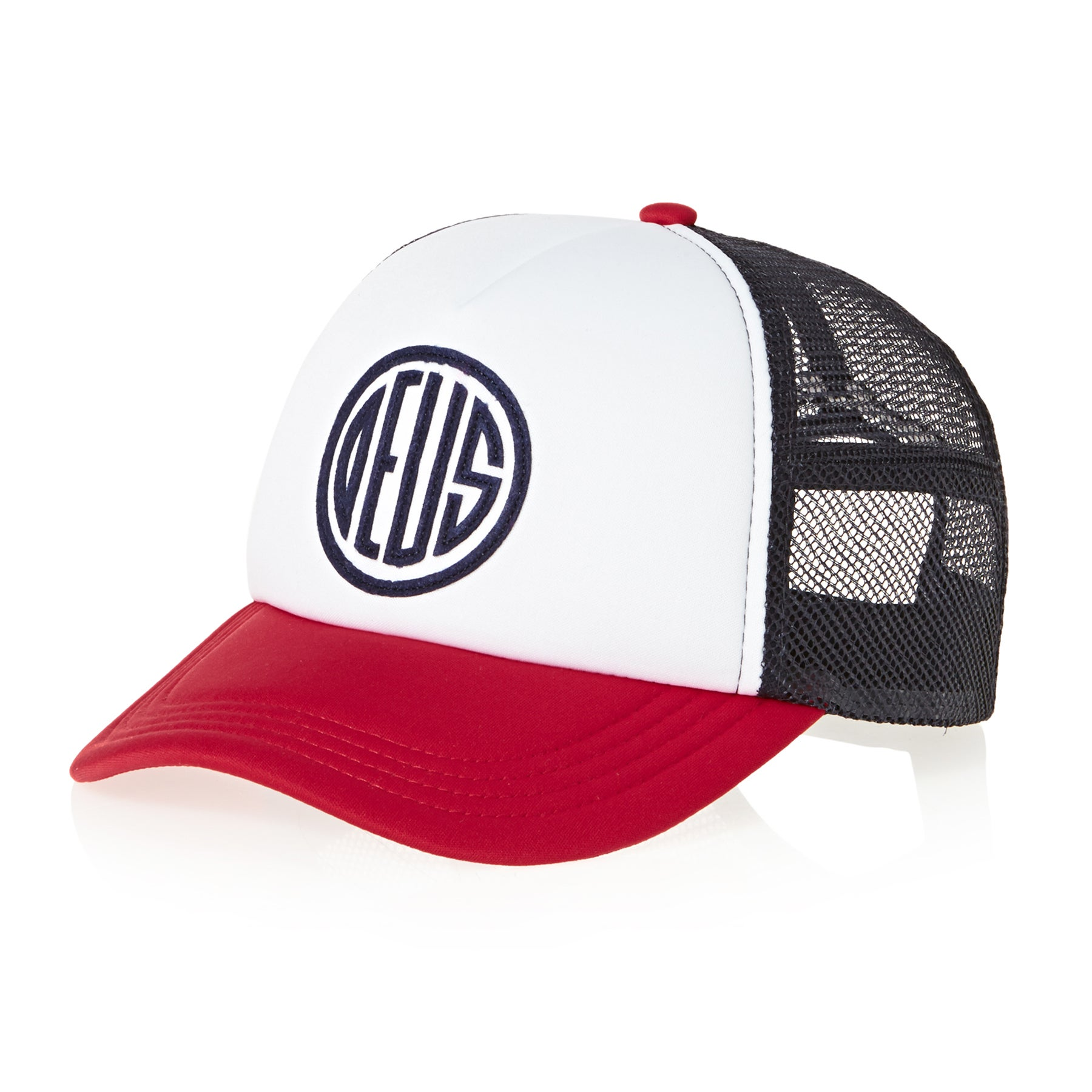 Casquette Deus Ex Machina Pill Trucker - Red Navy