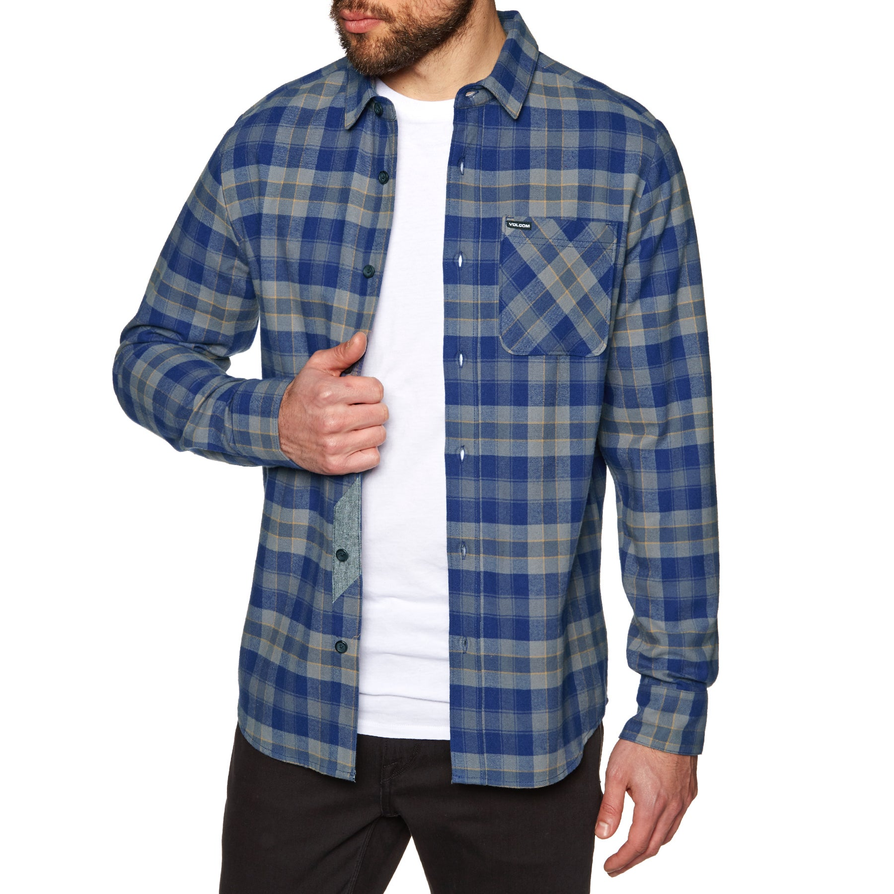 Volcom Caden Plaid Shirt - Matured Blue