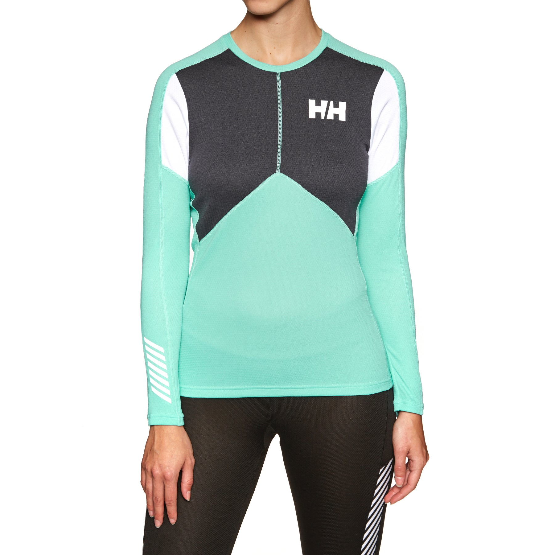 Helly Hansen Hh Lifa Active Crew Womens Base Layer Top - Pool Blue