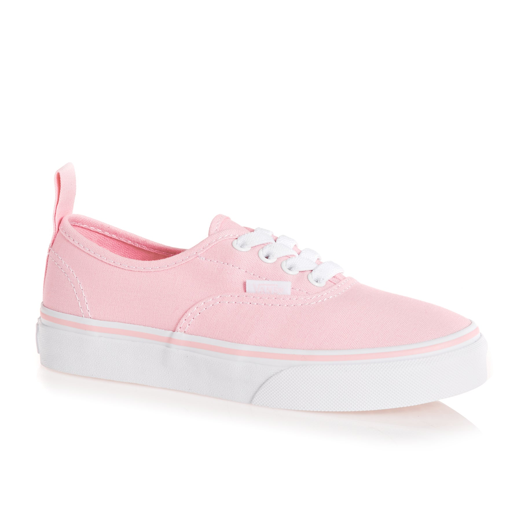 Vans Authentic Elastic Check Lace Kids Shoes - Chalk Pink True White