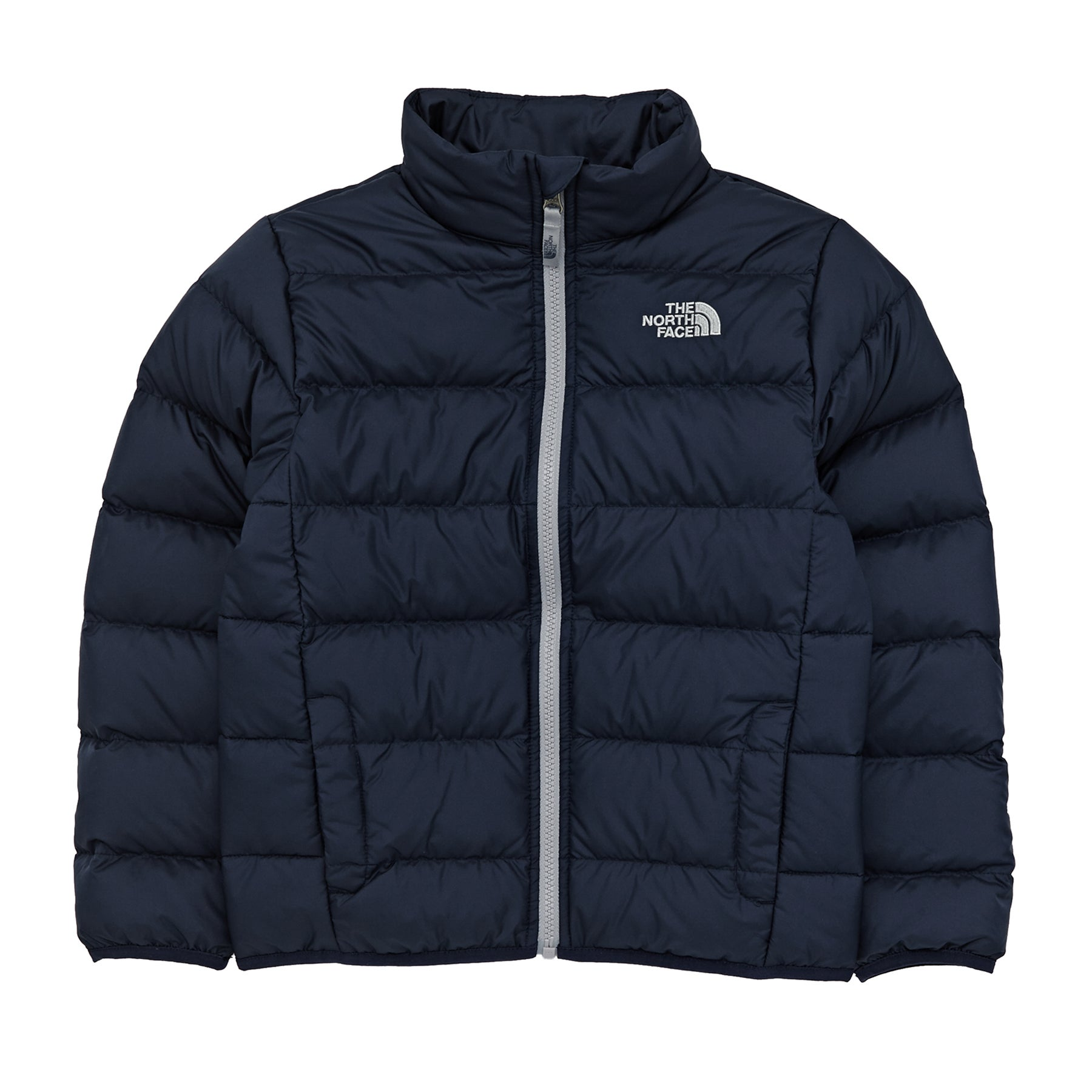 North Face Andes Boys Down Jacket - Cosmic Blue Mid Grey