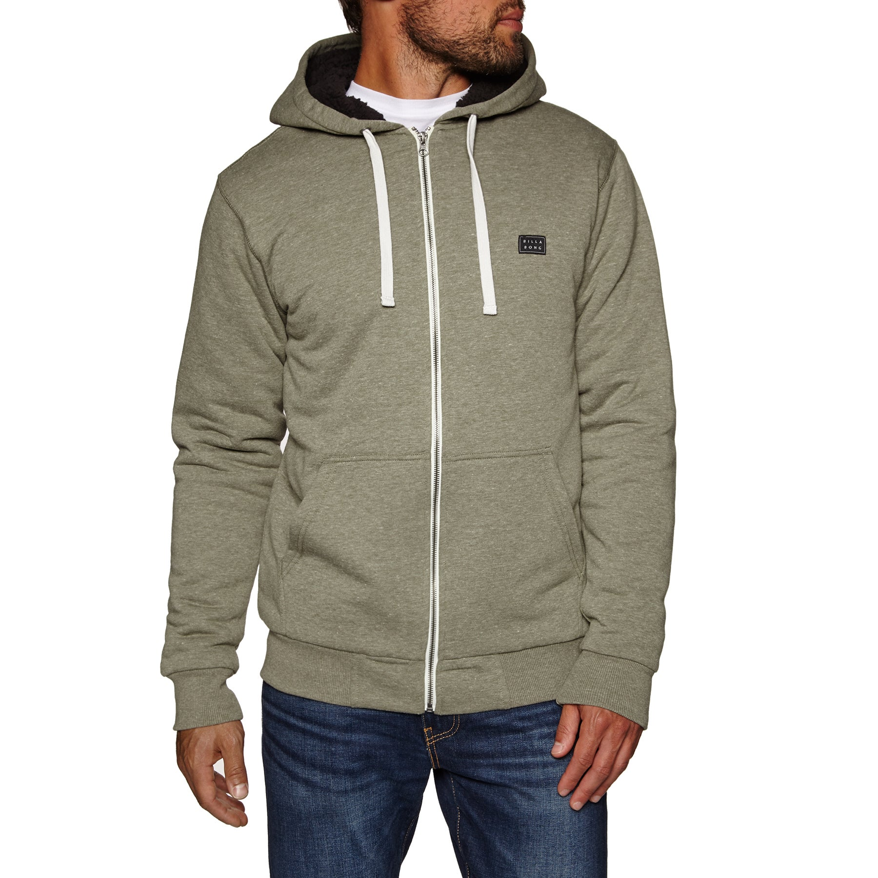 Billabong All Day Sherpa 2018 Zip Hoody - Military