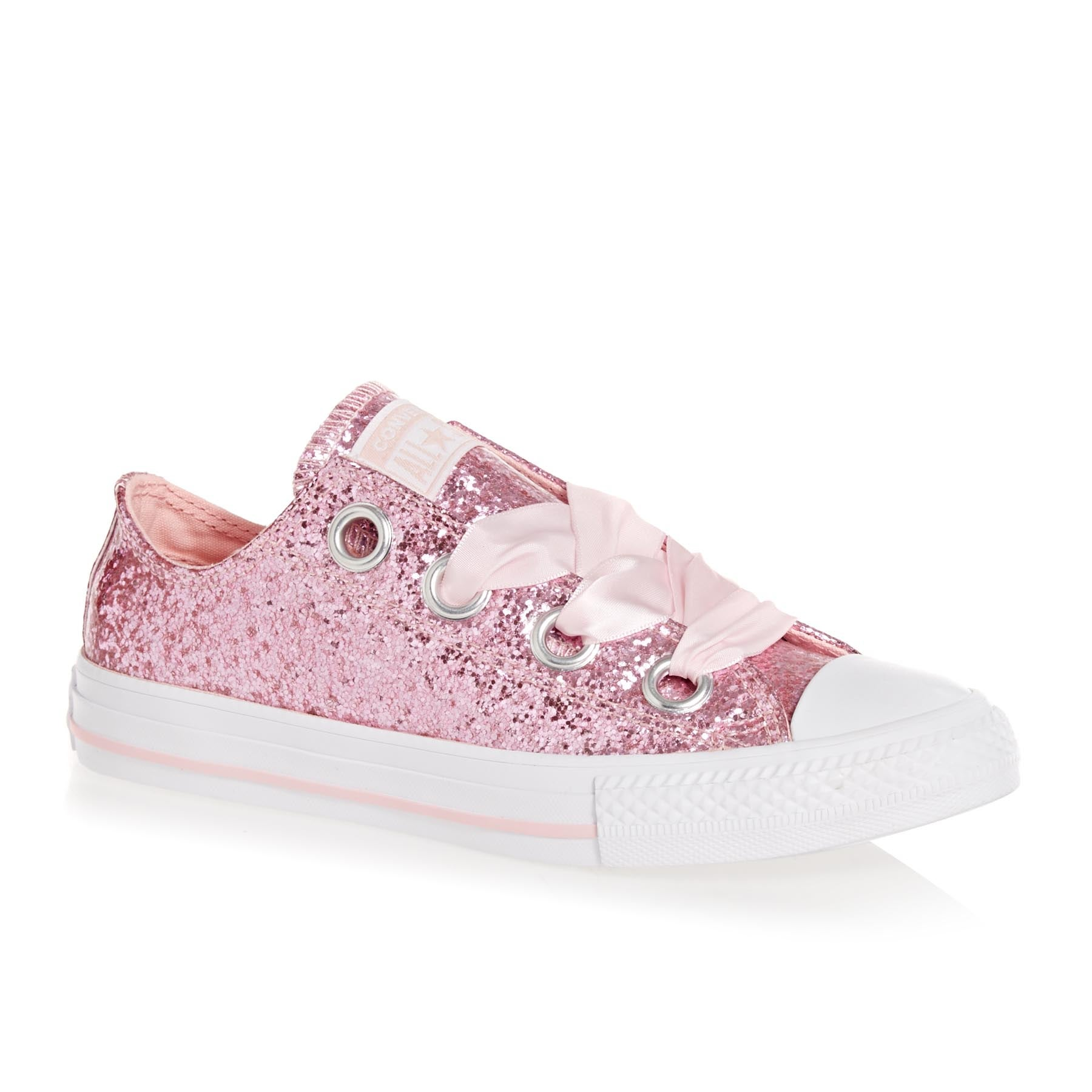 Converse Chuck Taylor All Star Big Eyelets Ox Girls Shoes - Storm Pink White White
