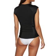 SWELL Short Sleeve 1/2 Zip Womens Rash Vest
