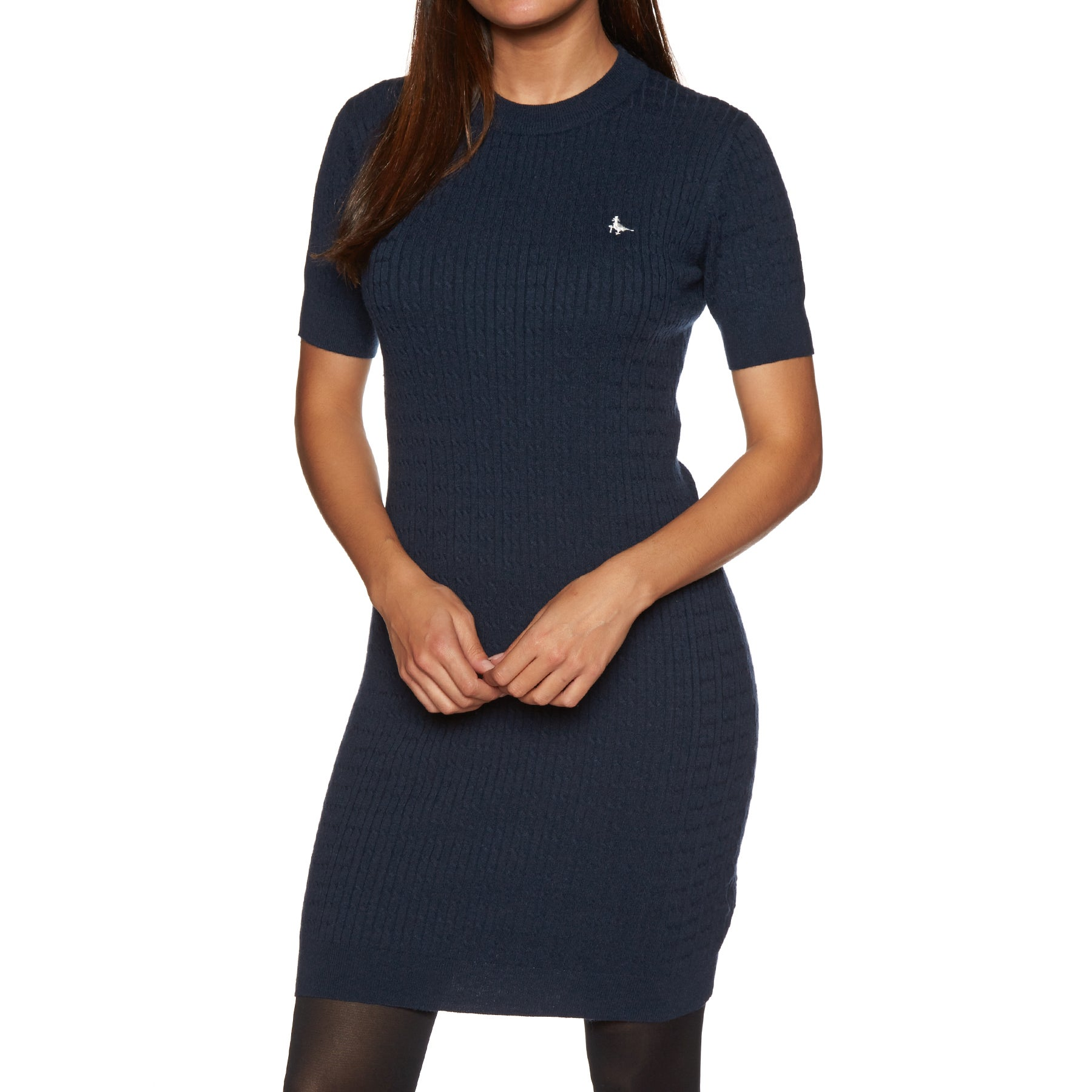 Jack Wills Danesfort Cable Knit Womens Dress - Navy