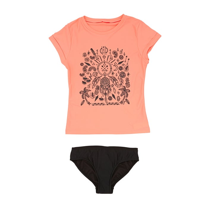 Seafolly Summer Essential S/s Surf Set Girls Tankinis