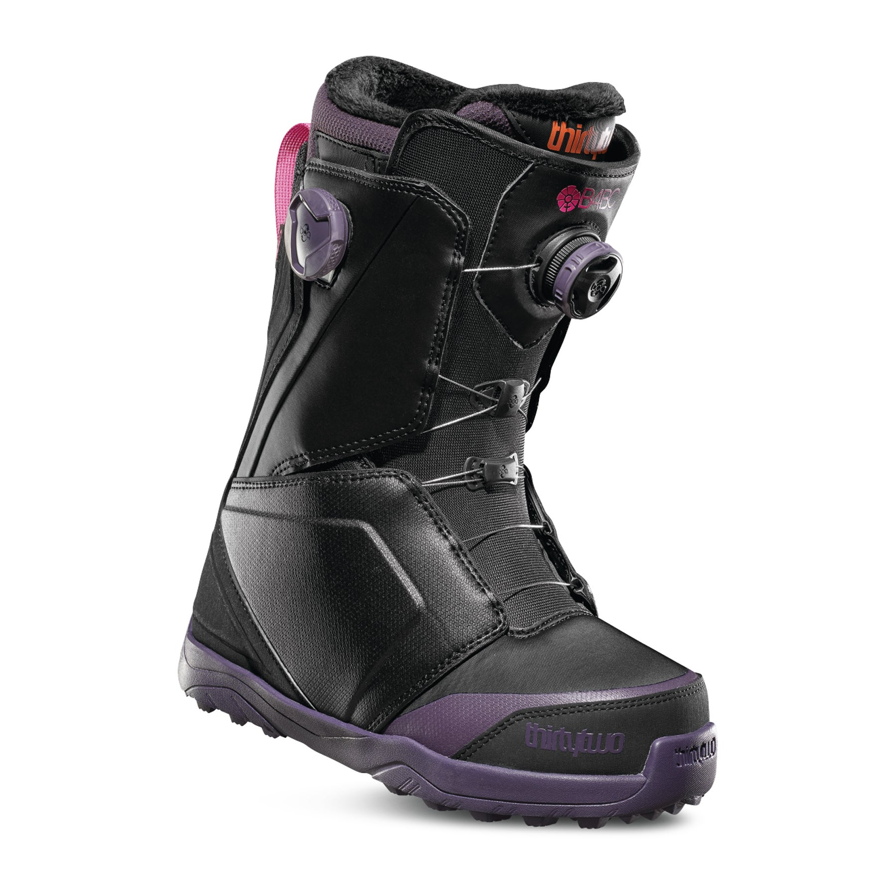 Thirty Two Lashed B4BC Double Boa Womens Snowboard Boots - Black Purple