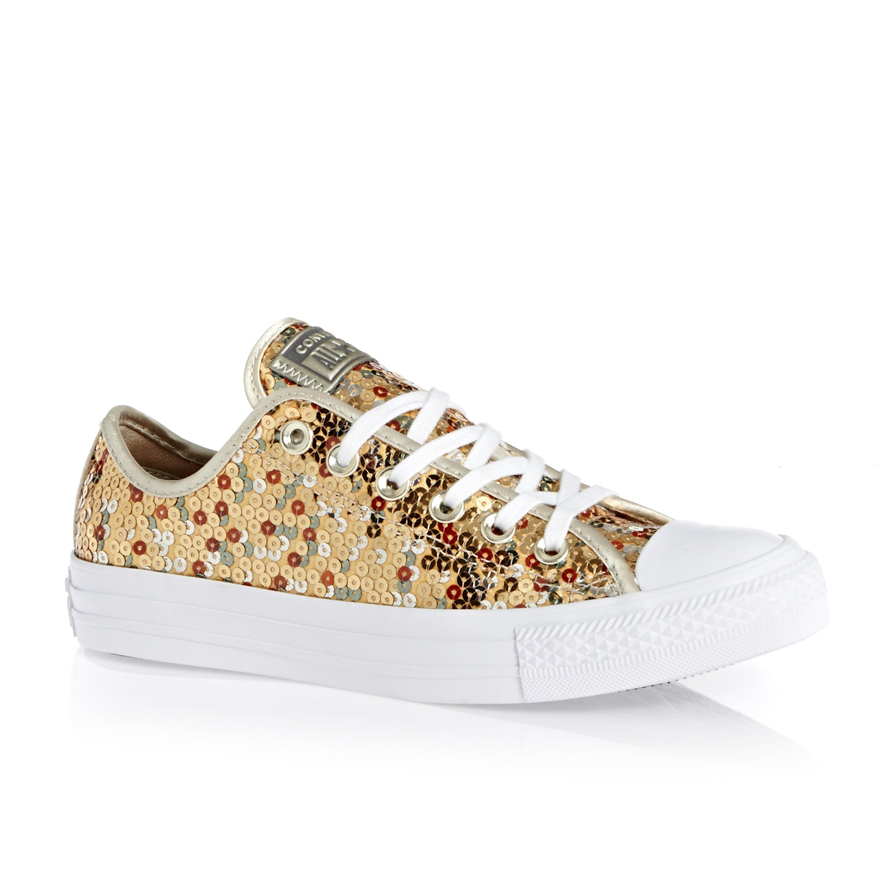 Converse Chuck Taylor All Star Ox Womens Shoes - Gold Light Gold White
