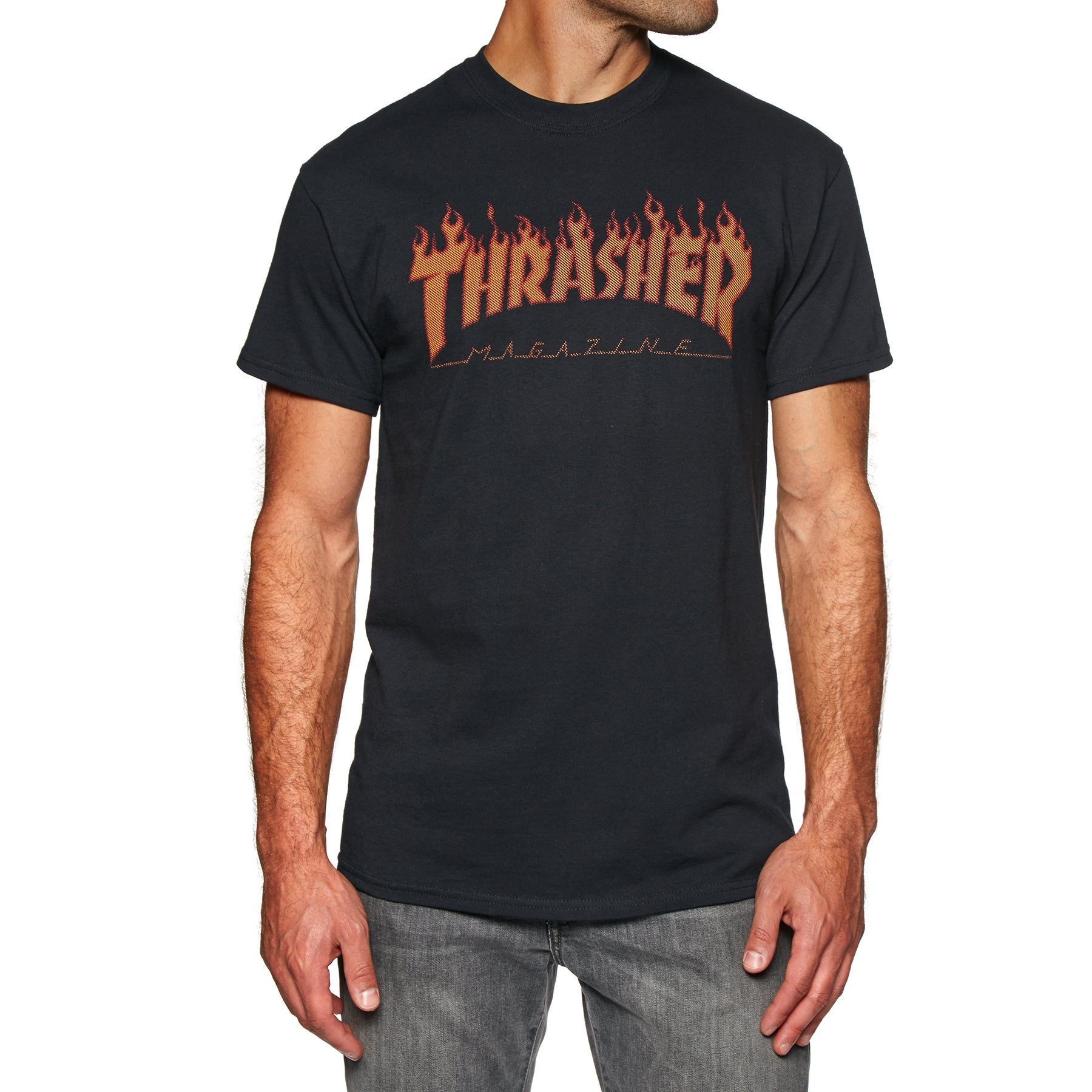 f0c3606c984f36 Thrasher Flame Halftone Short Sleeve T-Shirt available from Surfdome