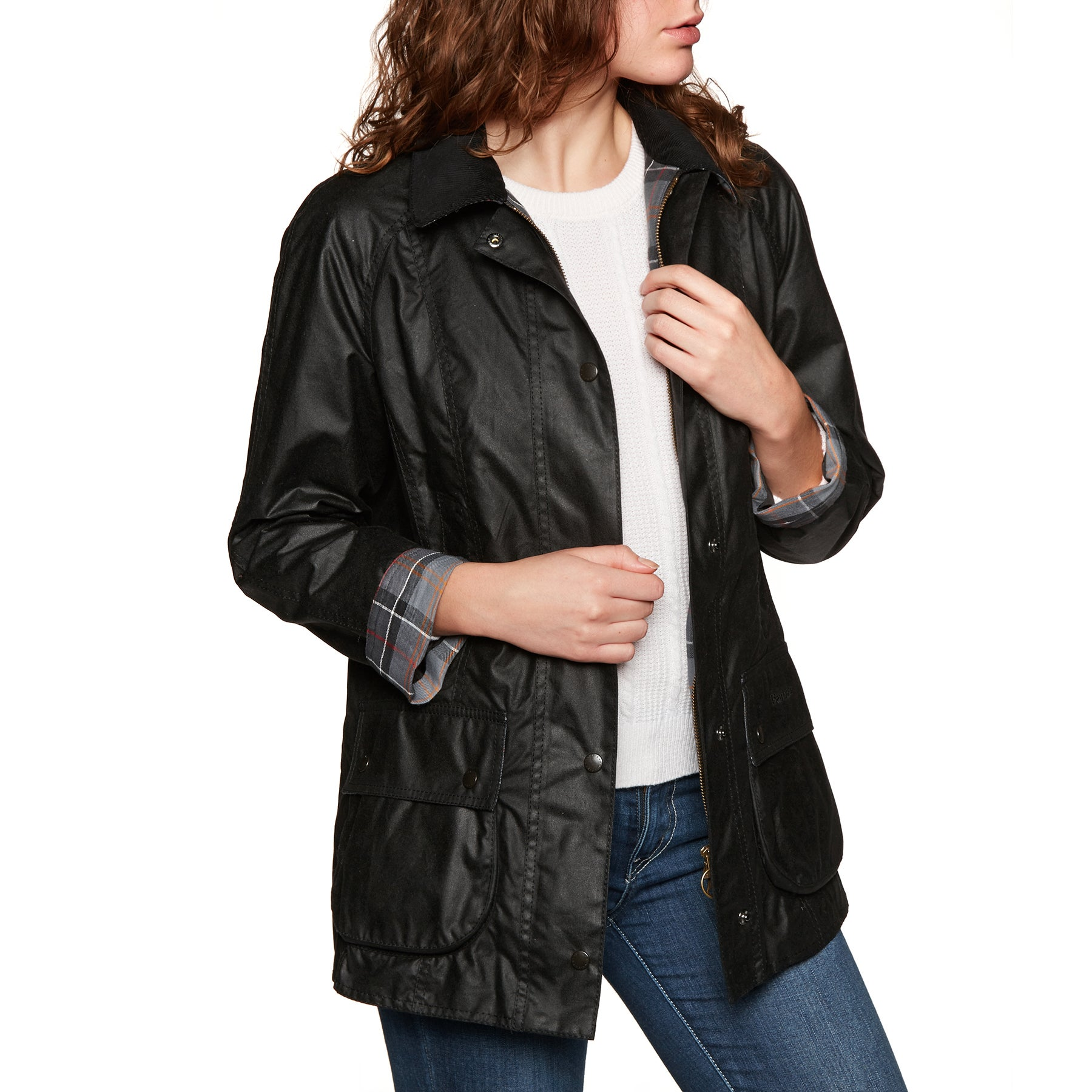 Barbour Beadnell Womens Wax Jacket - Black